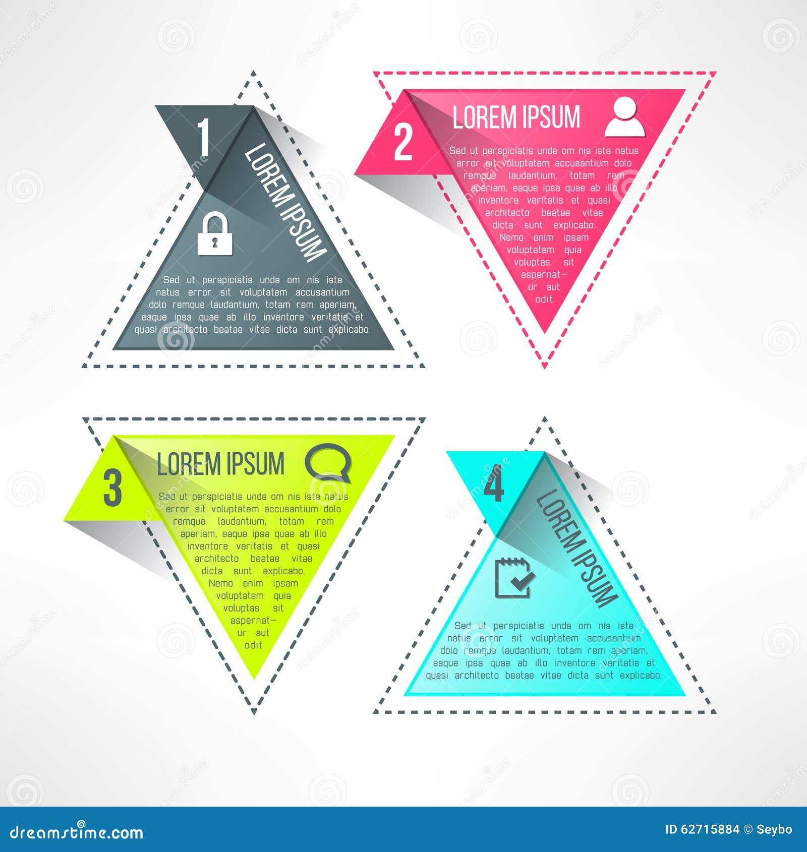 Διανυσματικό φωτεινό infographic πρότυπο στο σύγχρονο επίπεδο