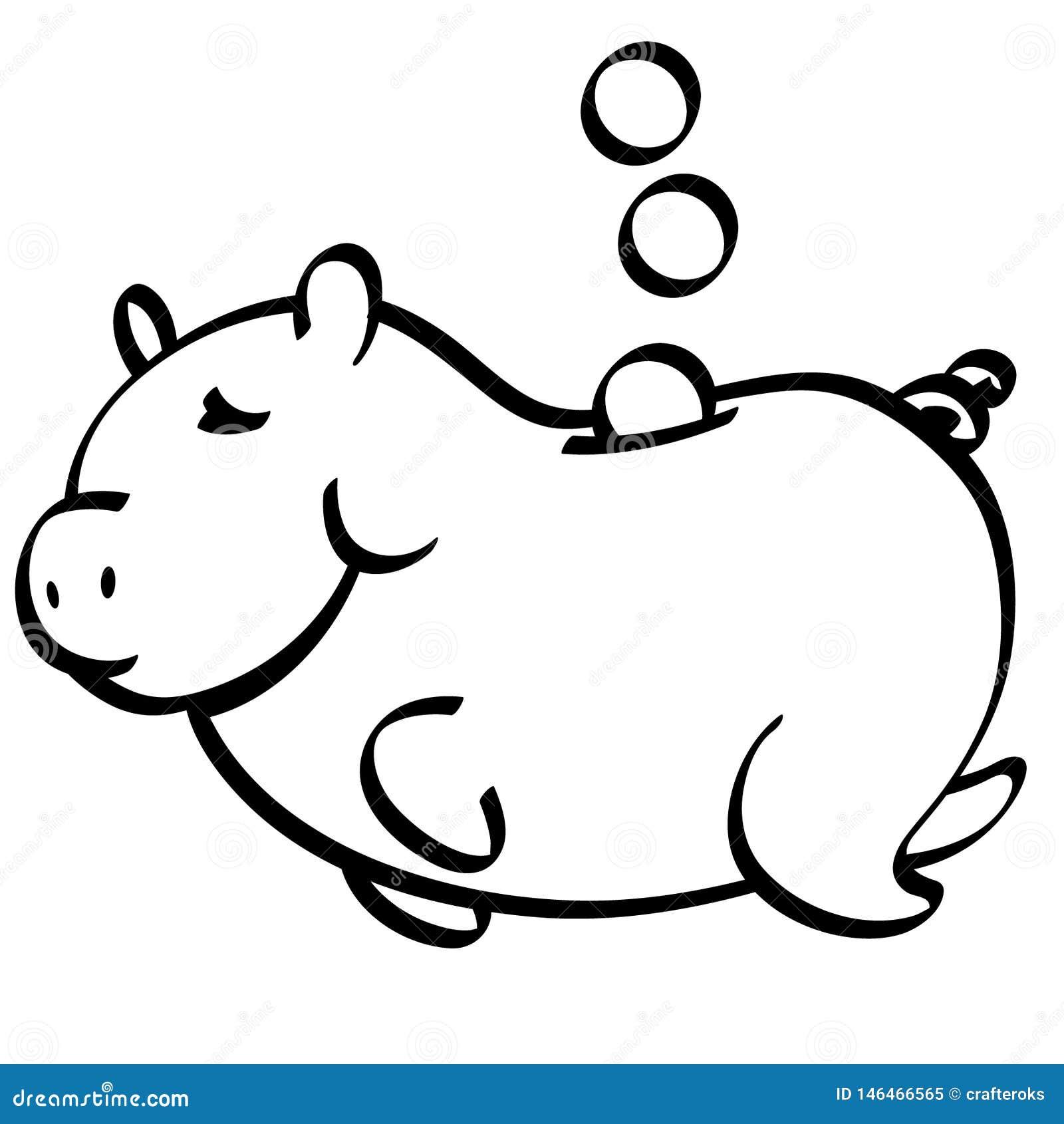 Διανυσματικό χέρι τραπεζών Piggy που σύρεται, διάνυσμα, Eps, λογότυπο, εικονίδιο, απεικόνιση σκιαγραφιών από τα crafteroks για τι