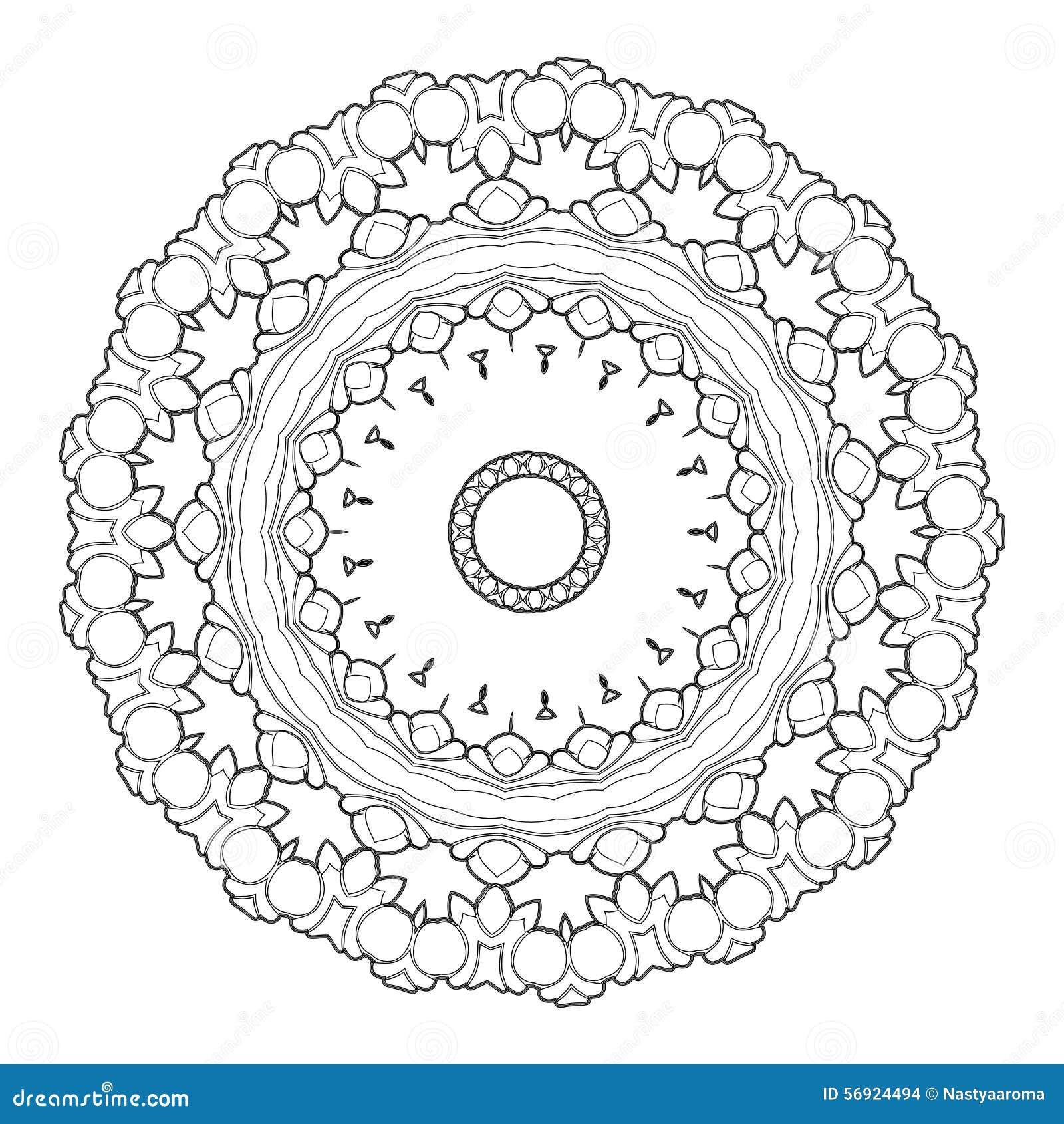 Διανυσματικό όμορφο Deco μαύρο Mandala