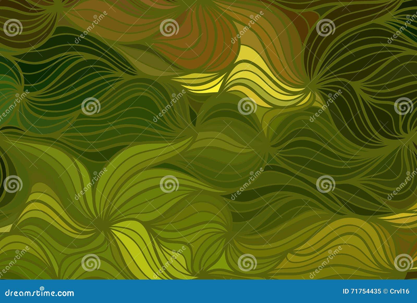 Διανυσματικό floral υπόβαθρο των συρμένων γραμμών