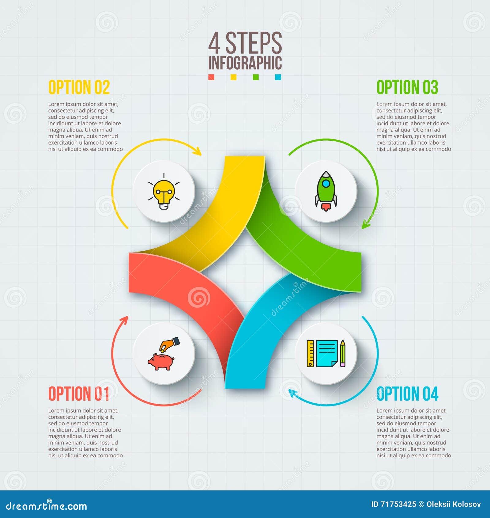 Διανυσματικό infographic πρότυπο σχεδίου