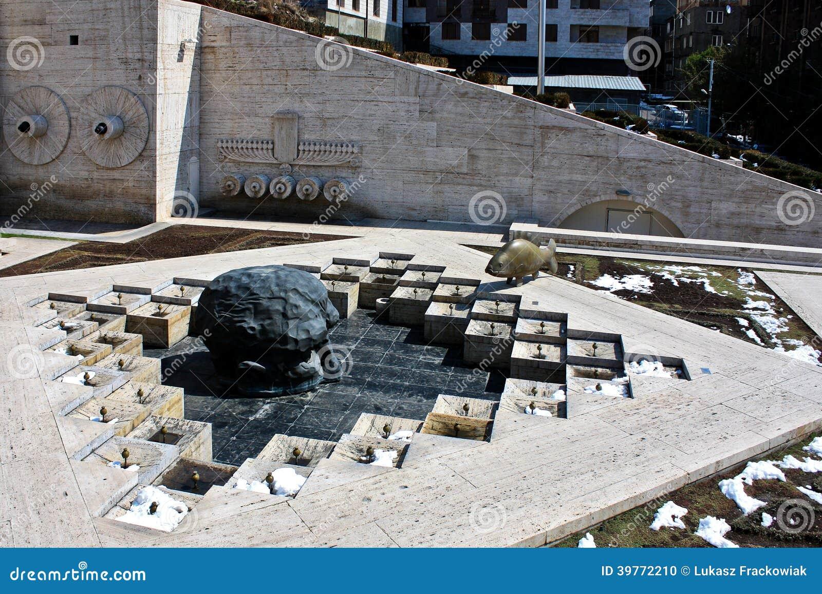 Διαρκέστε το γλυπτό και τον καταρράκτη κατάδυσης σε Jerevan Αρμενία