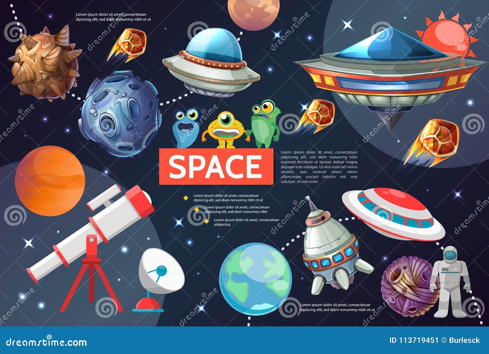 Διαστημική συλλογή στοιχείων κινούμενων σχεδίων