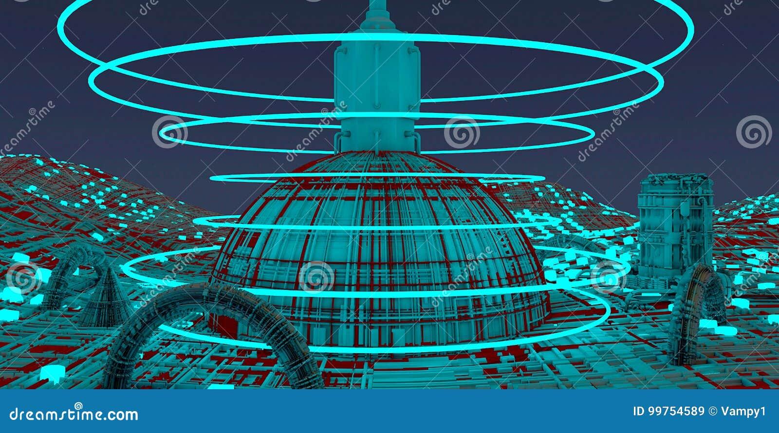Διαστημικός σταθμός, διαστημόπλοιο, πόλεις της μελλοντικής, επιστημονικής φαντασίας, Sci Fi, παράλληλα πιάτα, αστικά κέντρα, μονά