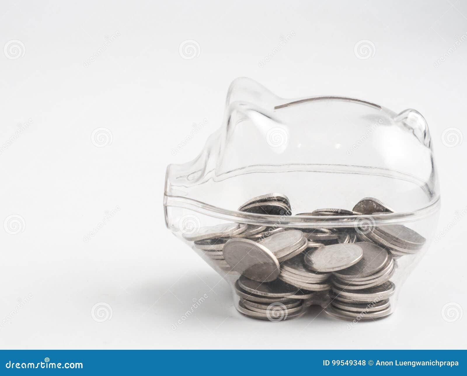 Διαφανής δείτε μέσω της piggy τράπεζας