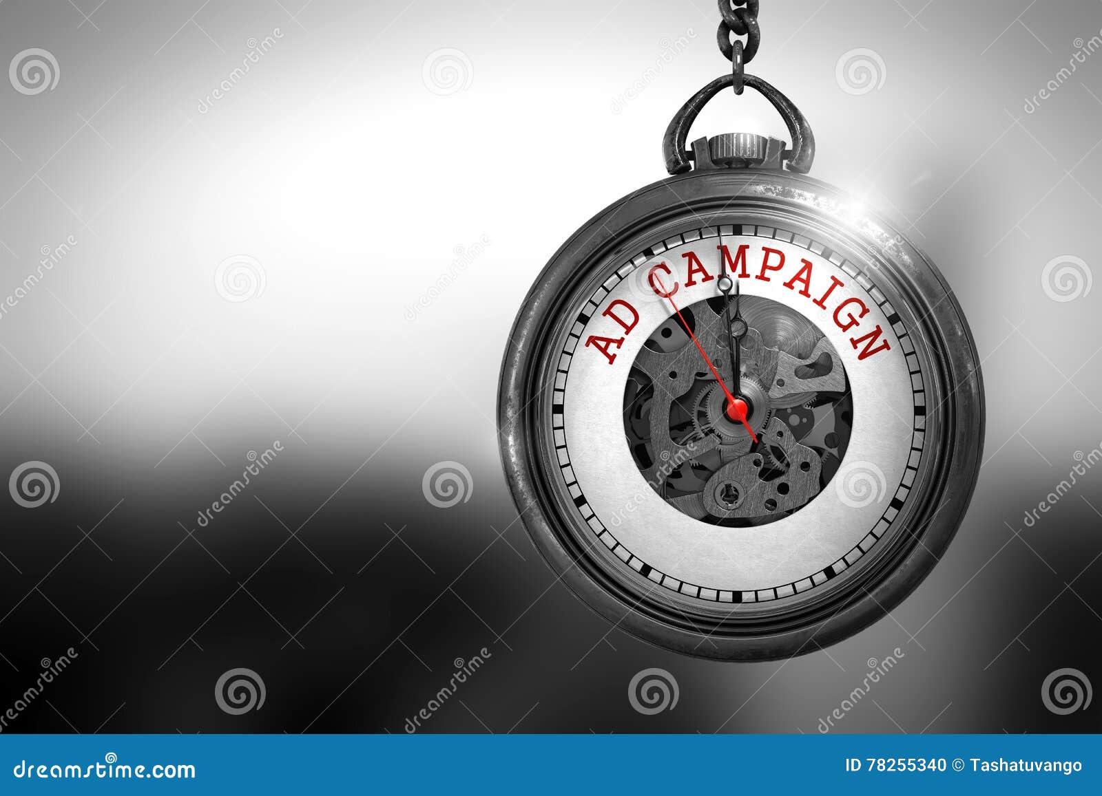 Διαφημιστική εκστρατεία στο εκλεκτής ποιότητας ρολόι τρισδιάστατη απεικόνιση
