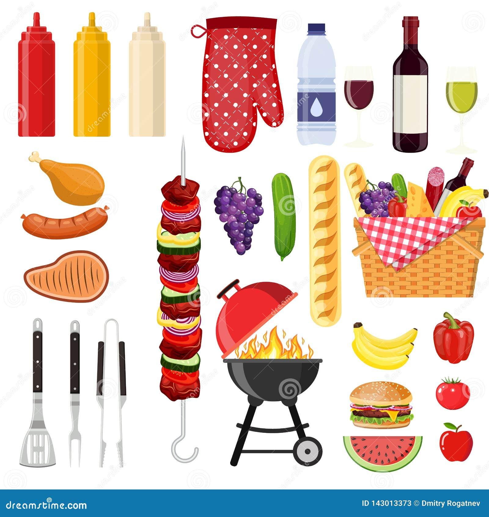 Διαφορετικά ειδικά εργαλεία και τρόφιμα