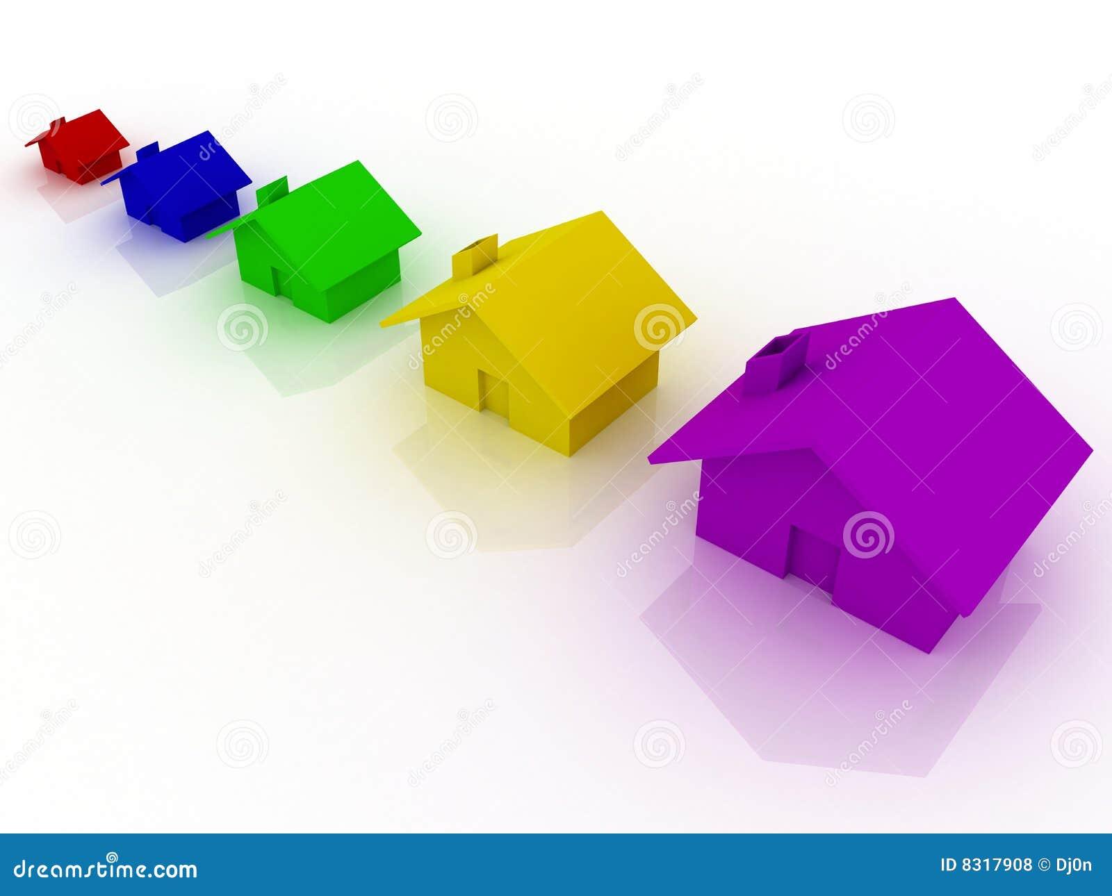 διαφορετικά πέντε σπίτια χ&r