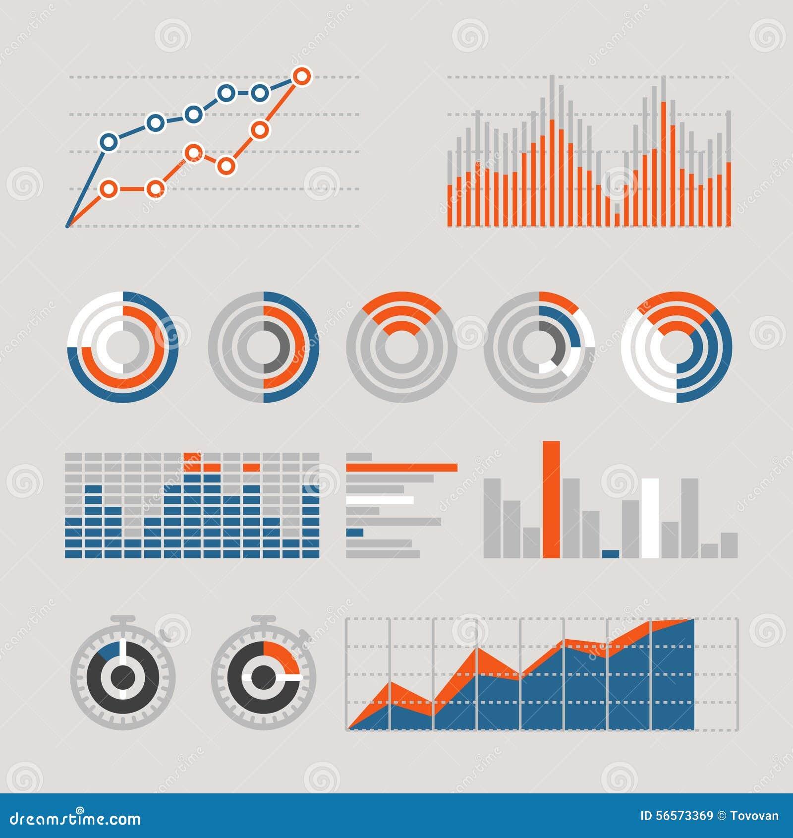 Download Διαφορετικές γραφικές επιχειρησιακά εκτιμήσεις και διαγράμματα Διανυσματική απεικόνιση - εικονογραφία από ευρετήριο, πρόοδος: 56573369