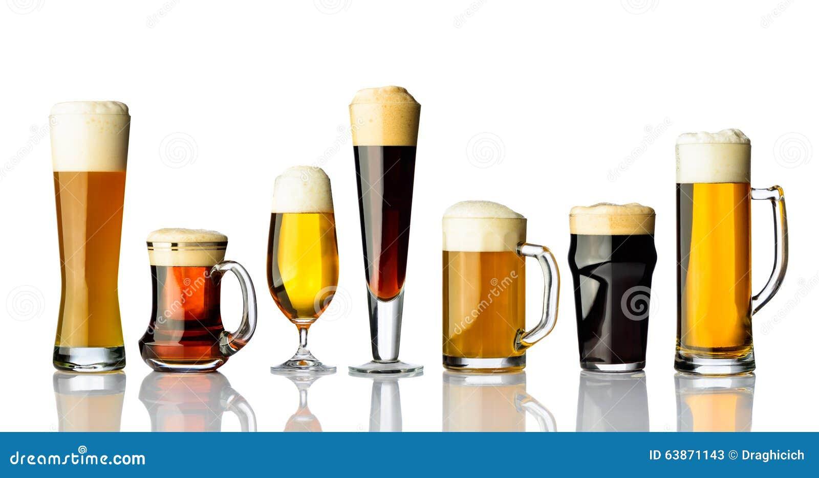 Διαφορετικοί τύποι μπυρών