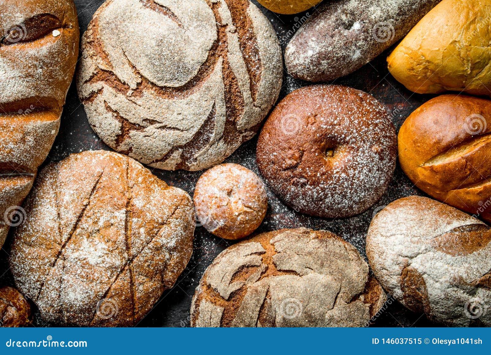 Διαφορετικοί τύποι ψωμιών