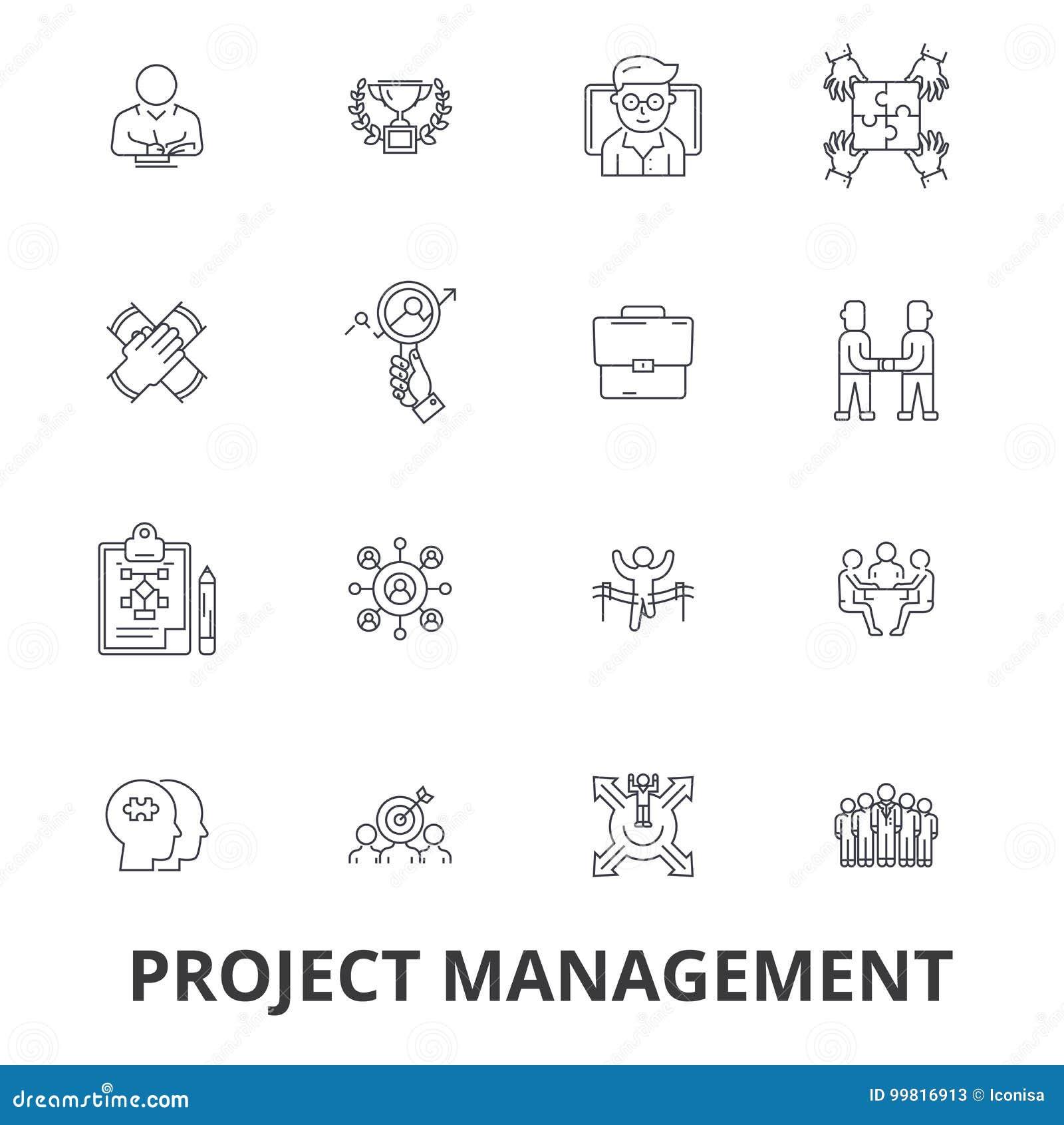 Διαχείριση του προγράμματος, πρόγραμμα, σχέδιο, διαβούλευση, διάγραμμα, κατασκευή, εικονίδια γραμμών εφαρμοσμένης μηχανικής Κτυπή