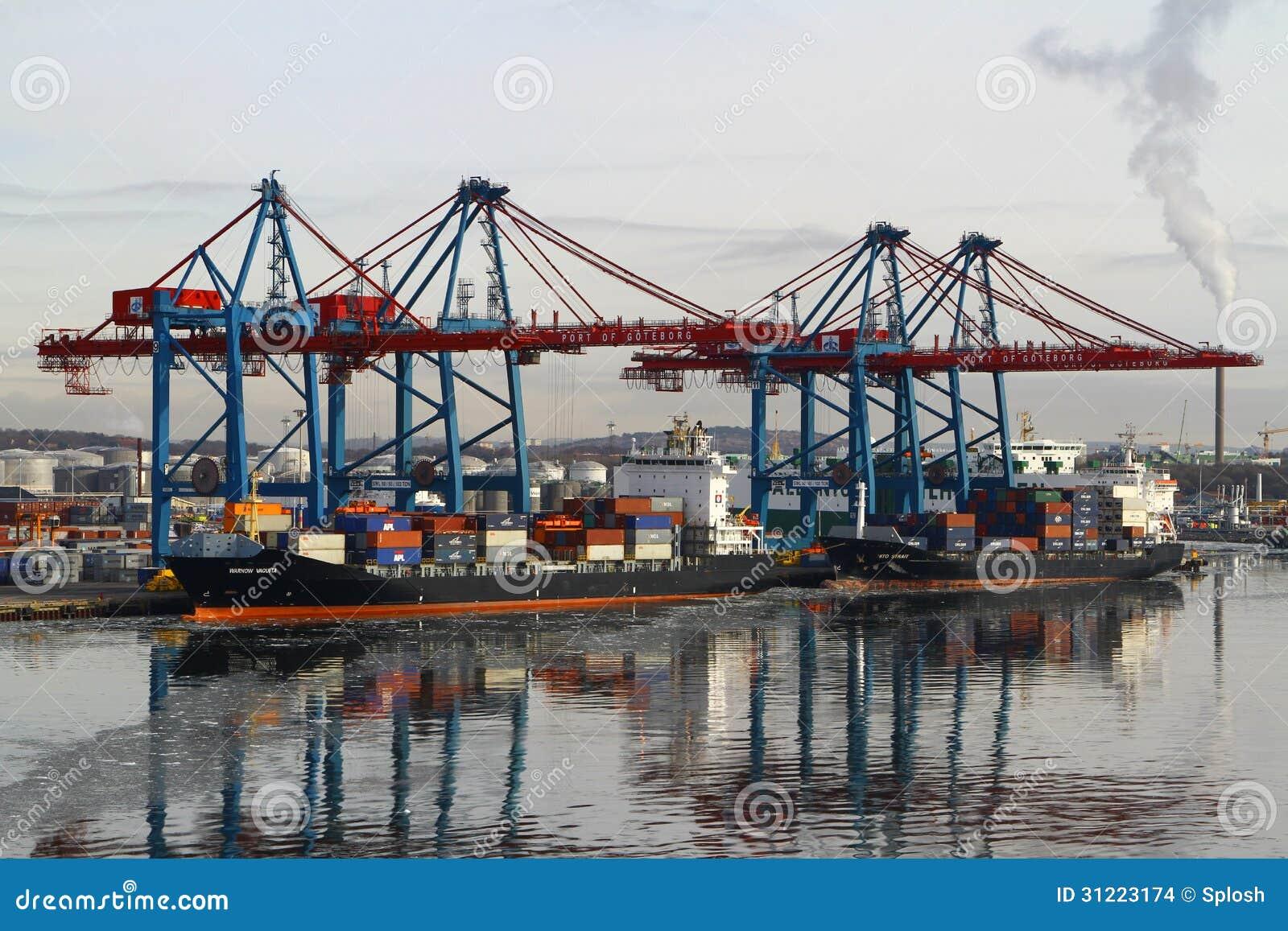 Διαδικασίες φορτίου σε ένα σκάφος εμπορευματοκιβωτίων
