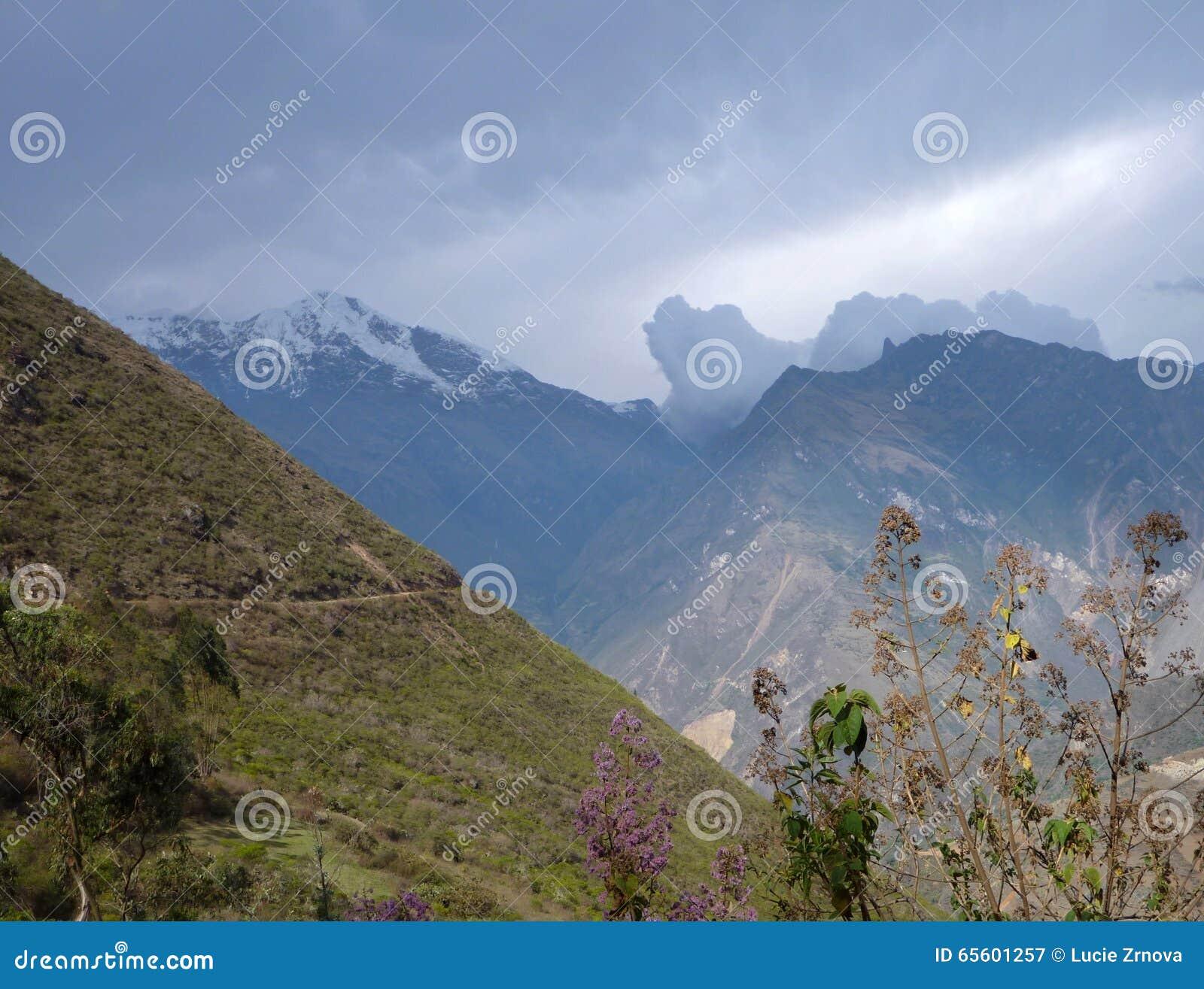 Διαδρομή της οδοιπορίας choquequirao στο Περού