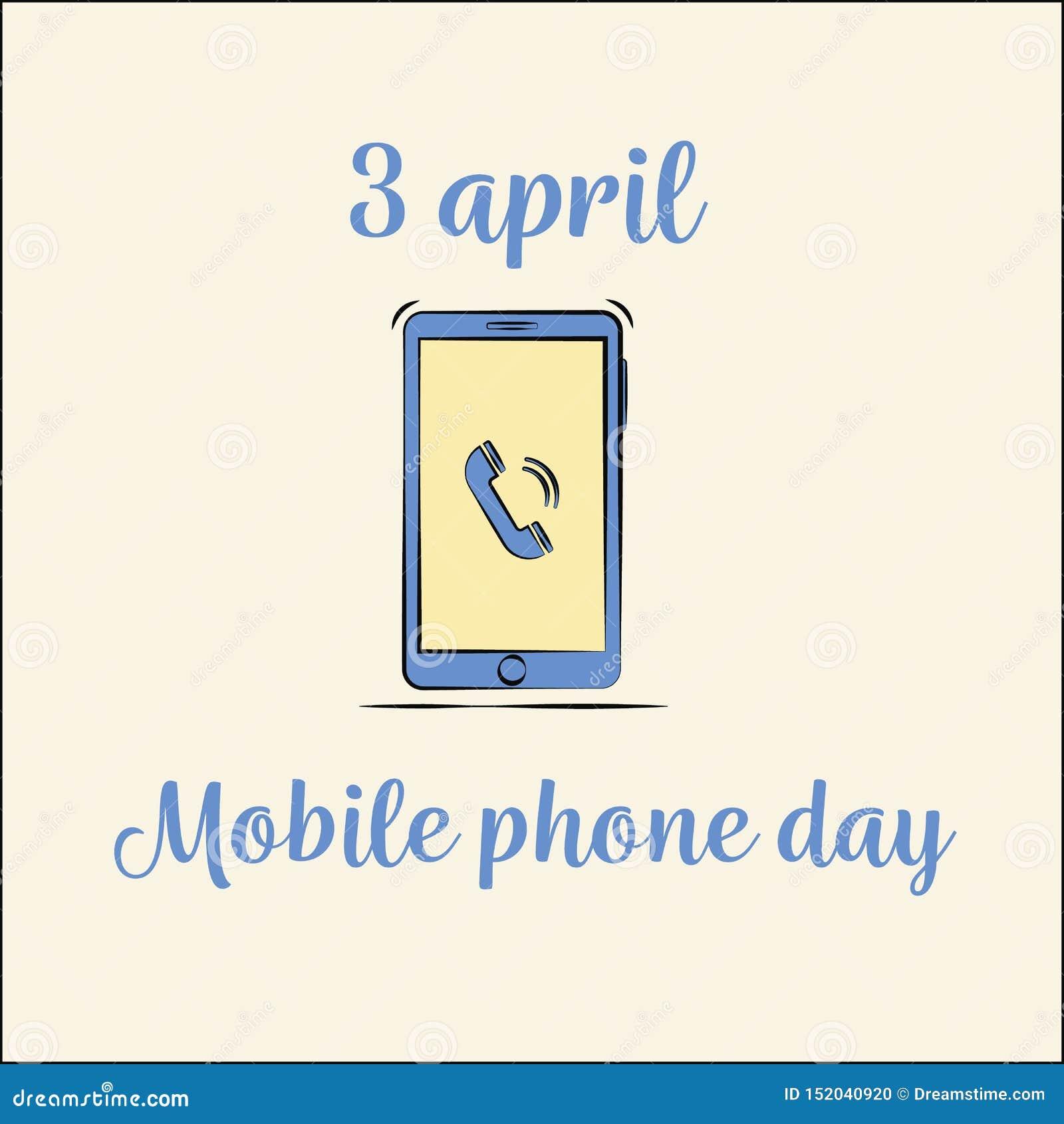 Διεθνής τηλεφωνική ημέρα διανυσματικό επίπεδο ύφος smartphone