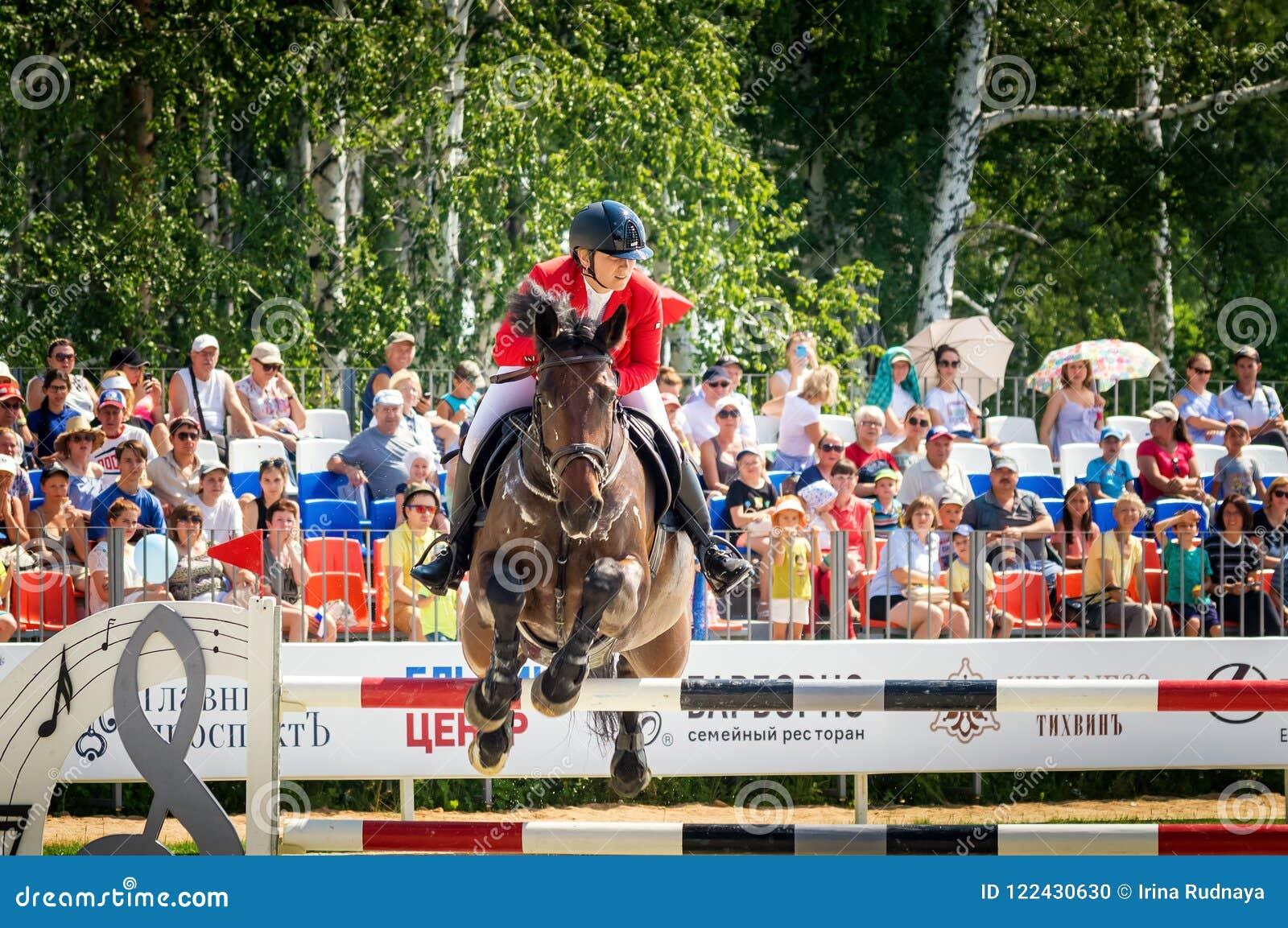 Διεθνείς πηδώντας ανταγωνισμοί αλόγων, Ρωσία, Ekaterinburg, 28 07 2018