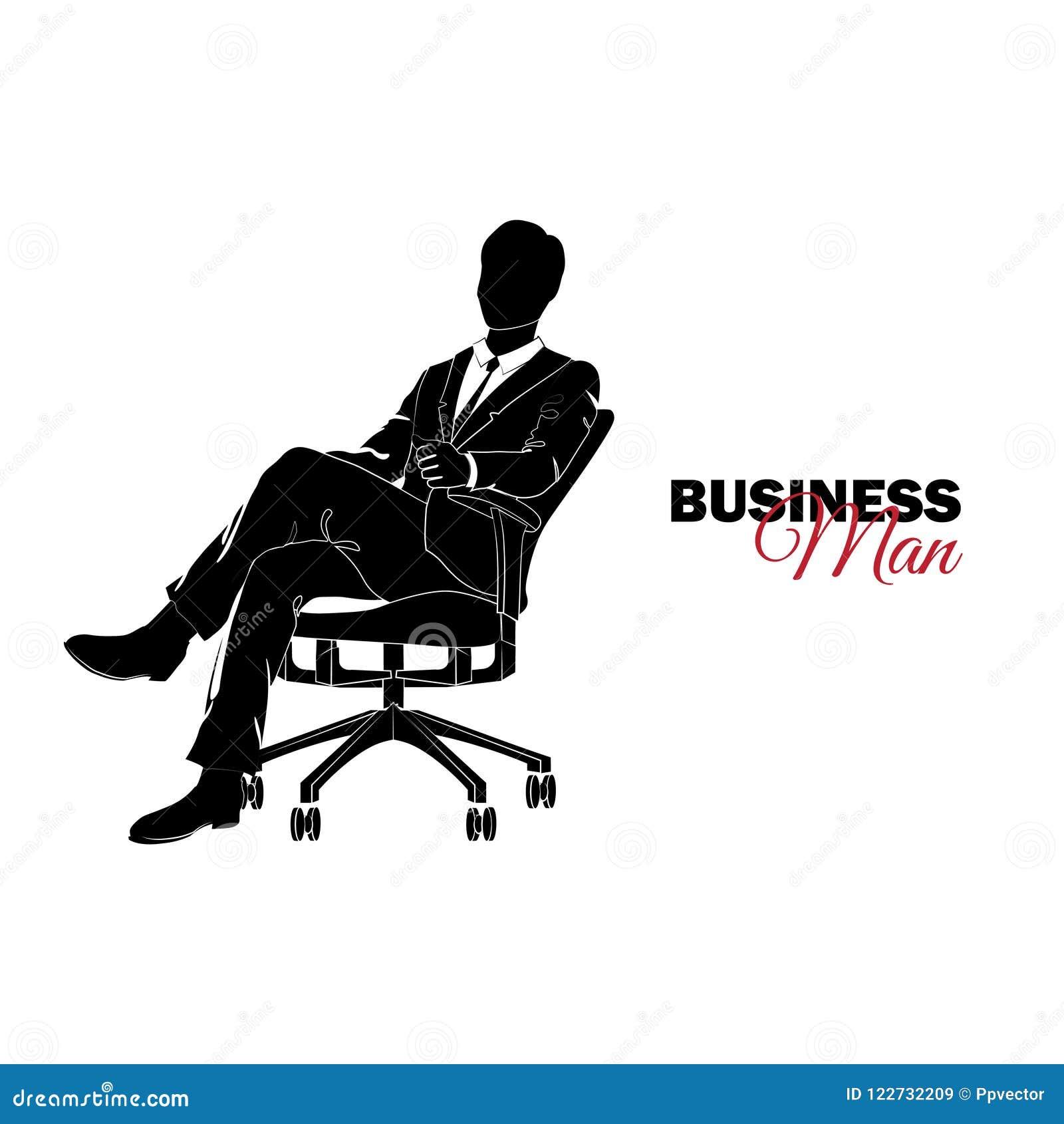 διευθυντής κοστούμι επιχειρησιακών Συνεδρίαση επιχειρηματιών σε μια έδρα