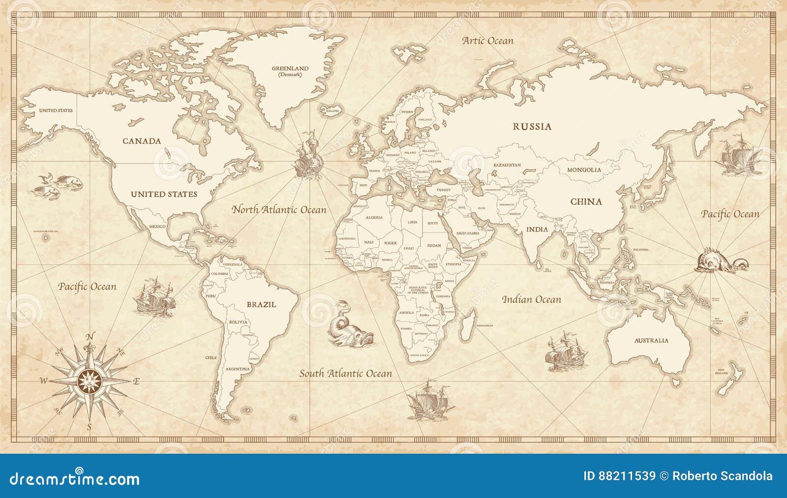 Διευκρινισμένος τρύγος παγκόσμιος χάρτης