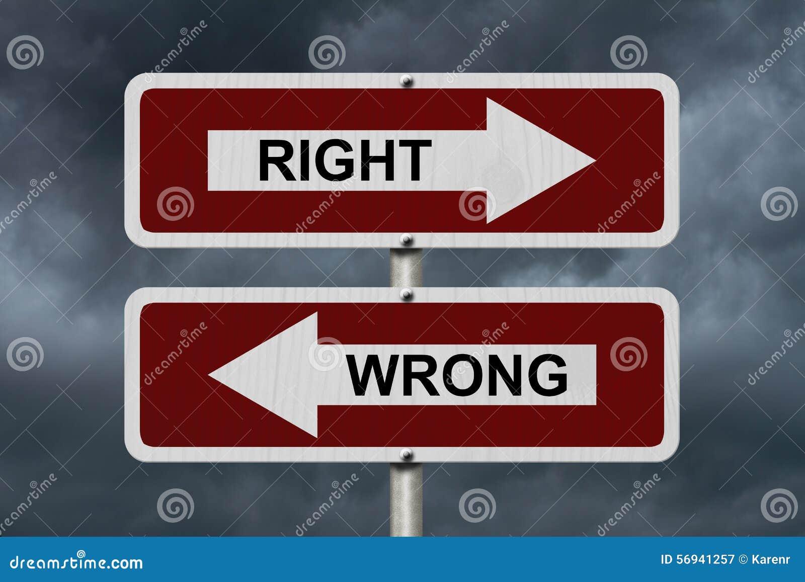 Δικαίωμα εναντίον λανθασμένου
