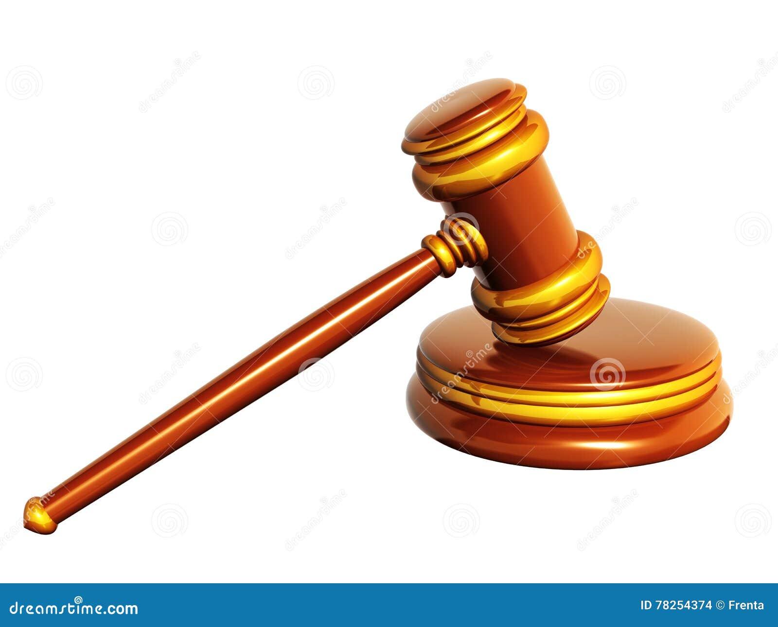 Δικαστικό τρισδιάστατο gavel