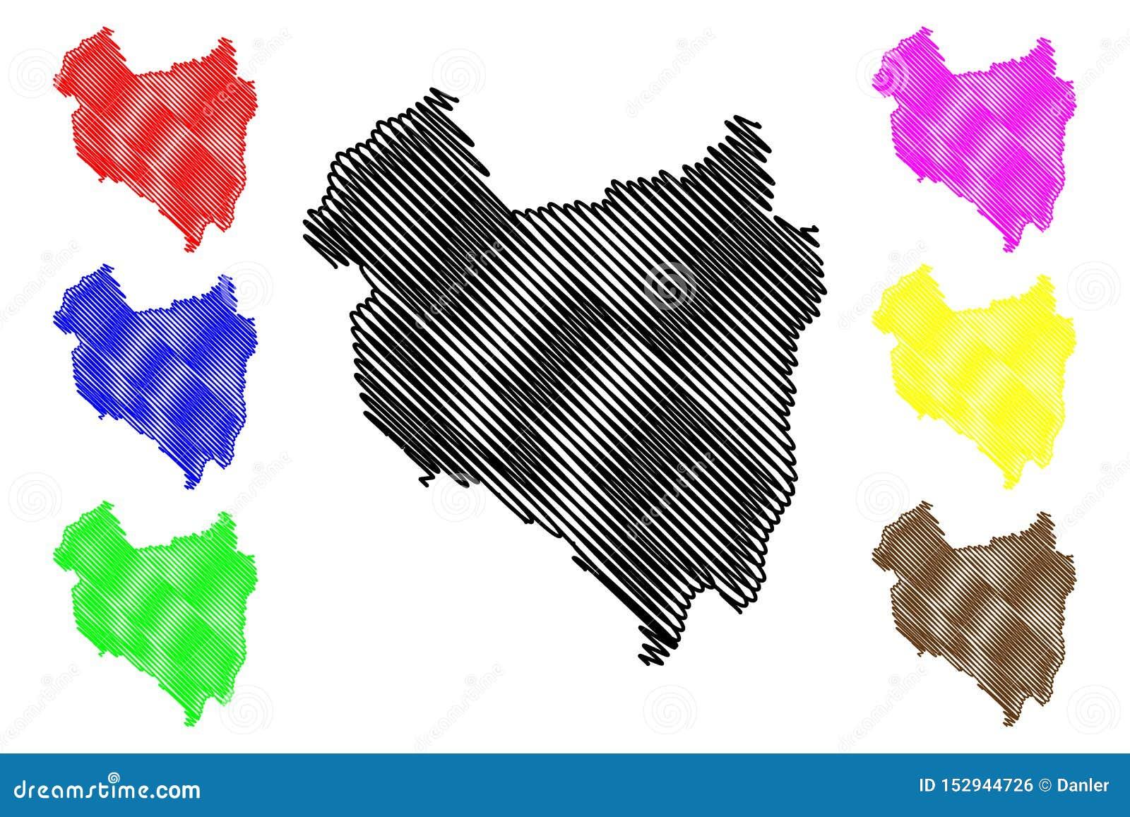 Διοικητικά τμήματα κομητειών Covasna διανυσματική απεικόνιση χαρτών της Ρουμανίας, περιοχή ανάπτυξης Centru, σκίτσο Covasna κακογ