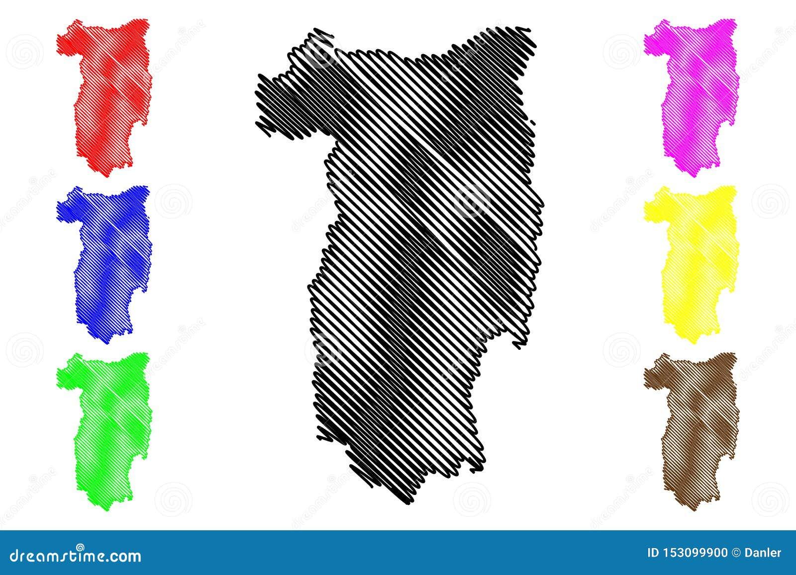 Διοικητικά τμήματα κομητειών Valcea διανυσματική απεικόνιση χαρτών της Ρουμανίας, περιοχή ανάπτυξης Oltenia sud-φανέλλων, σκίτσο