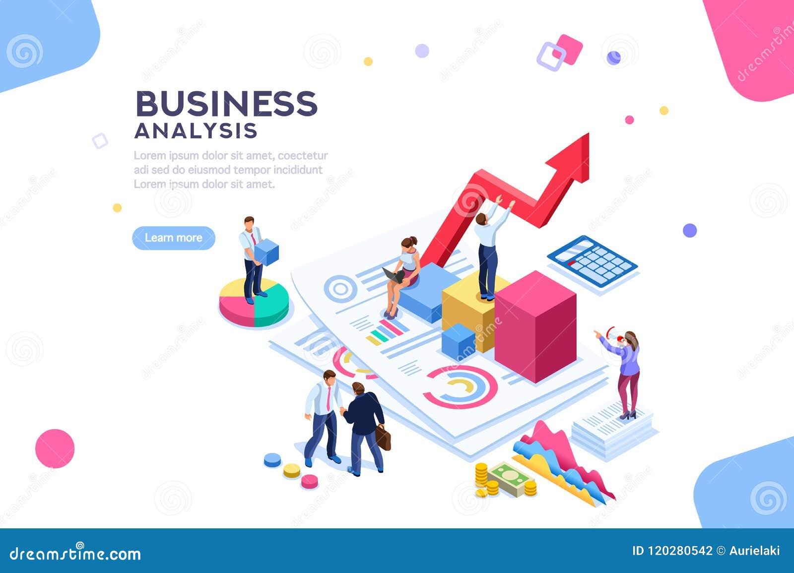 Διοικητικό επίπεδο Isometric έμβλημα αξίας οικονομικής ισορροπίας