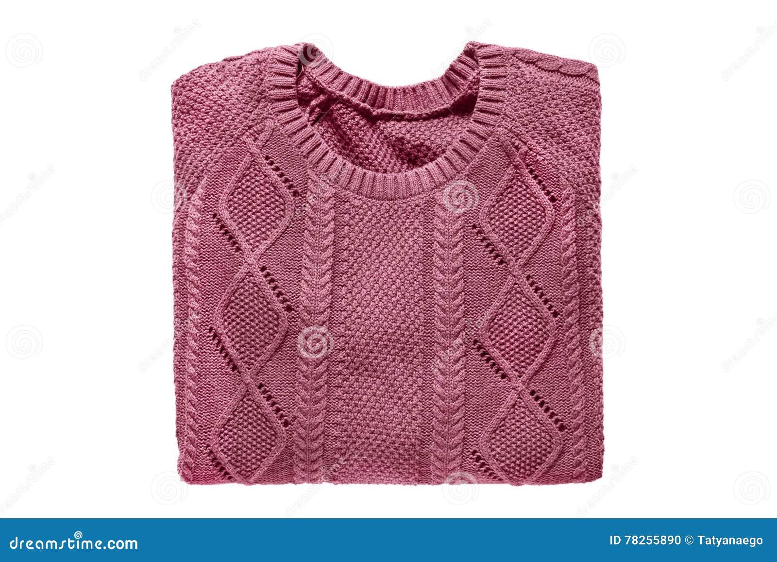 Διπλωμένο πουλόβερ που απομονώνεται