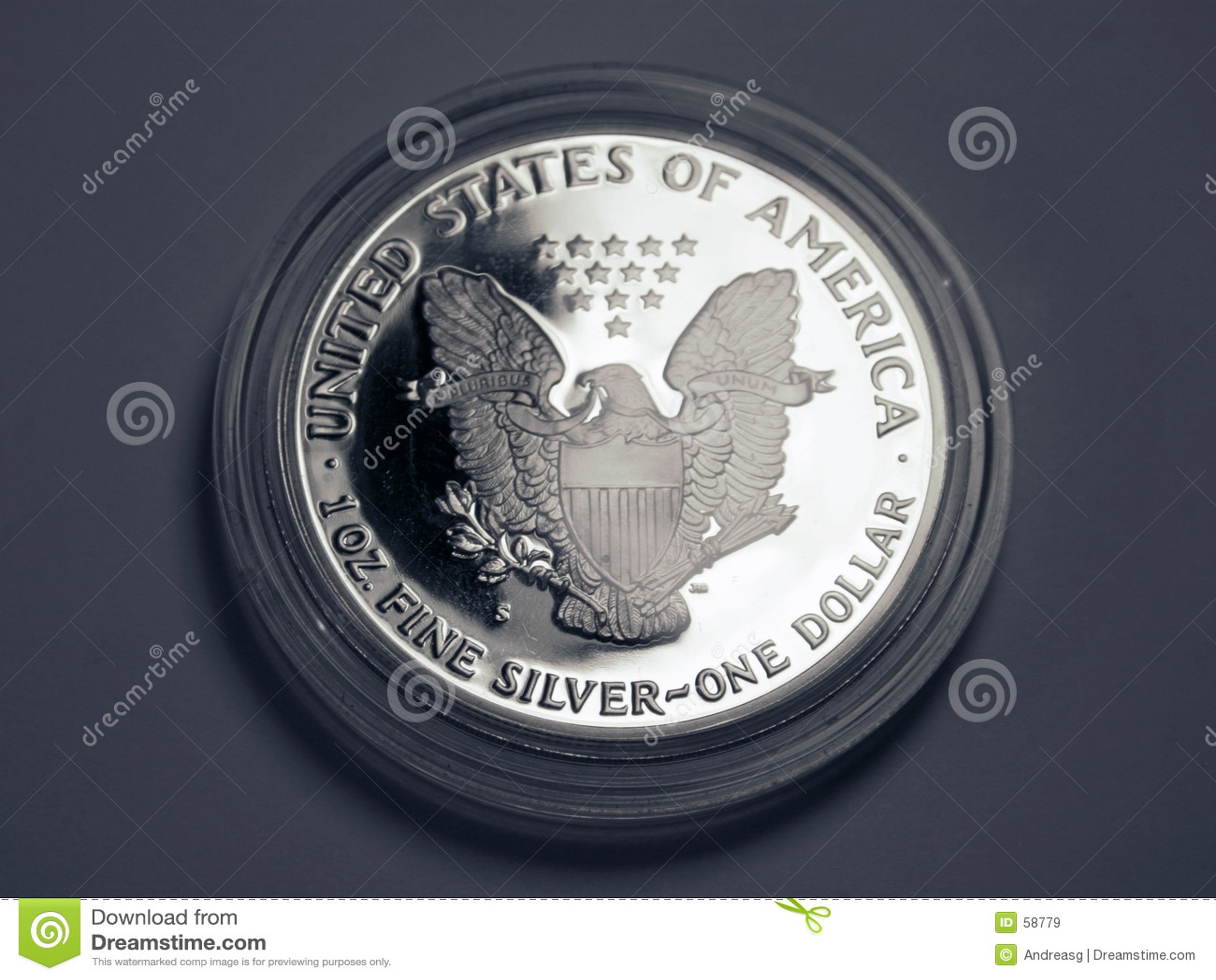 Download δολάριο ένα ασήμι στοκ εικόνα. εικόνα από ένας, αετός, τραπεζίτες - 58779