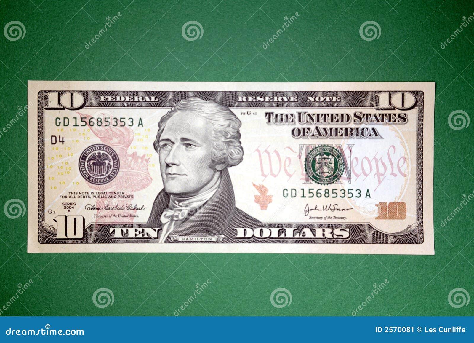 δολάριο s δέκα u λογαριασ&