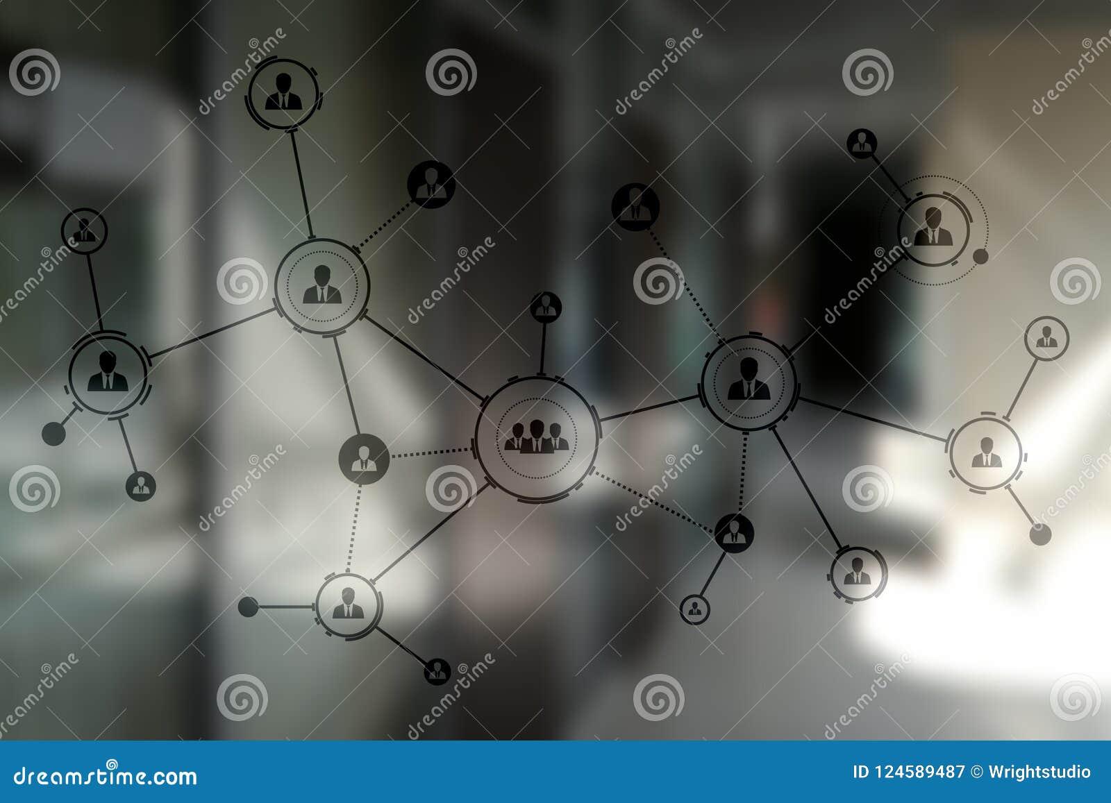 Δομή οργάνωσης Κοινωνικό δίκτυο ανθρώπων ` s Έννοια επιχειρήσεων και τεχνολογίας