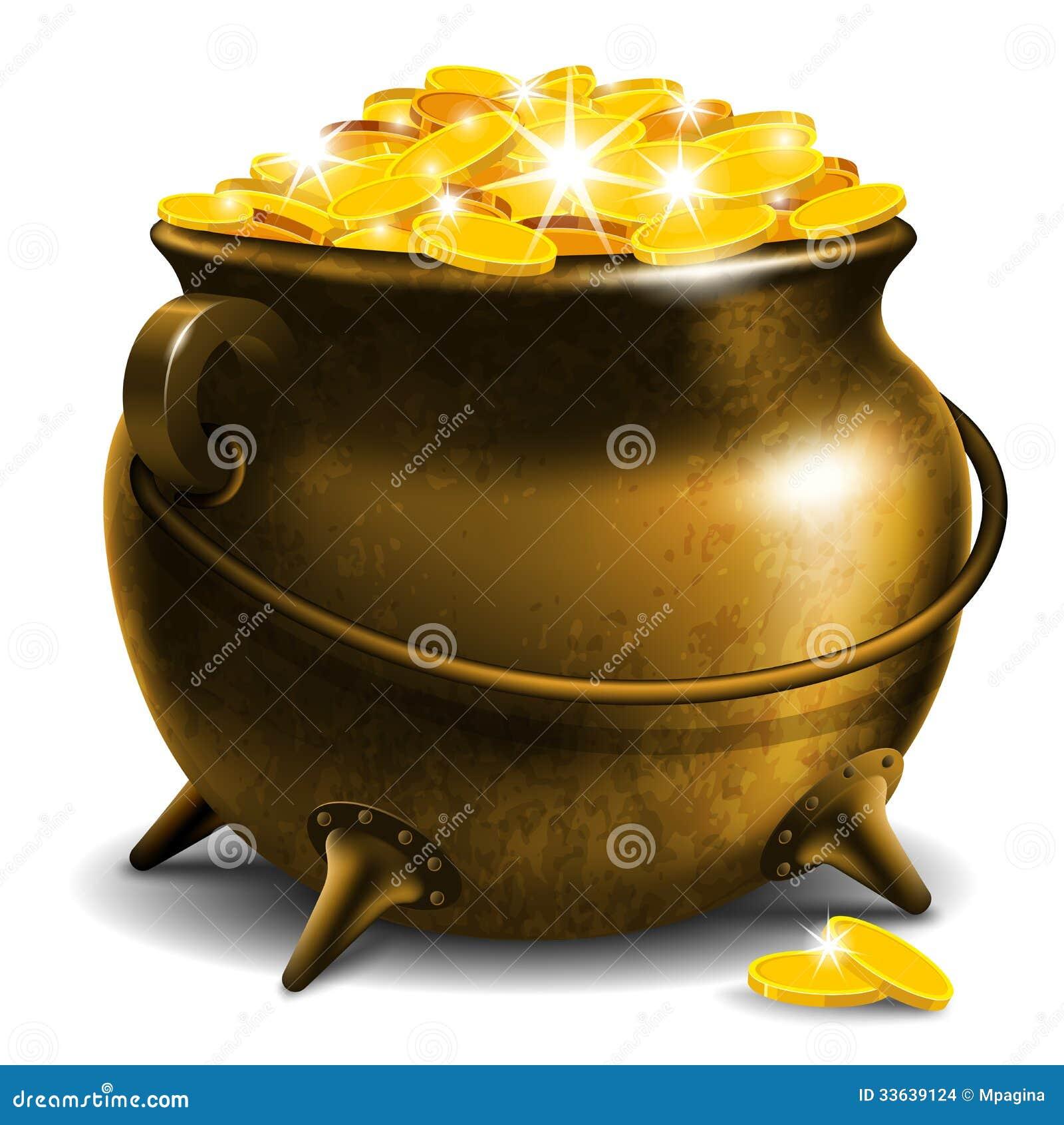 Δοχείο με το χρυσό νόμισμα