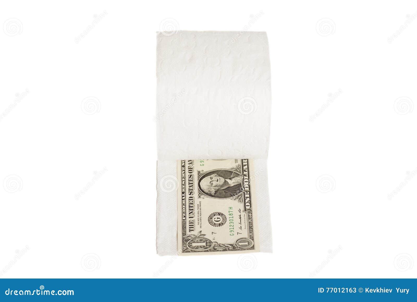 Δολάρια ένα στο χαρτί τουαλέτας