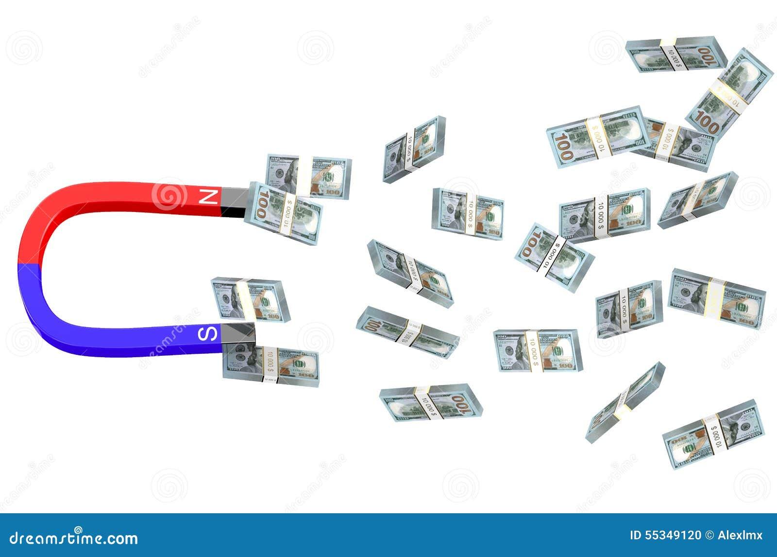 Δολάρια και μαγνήτης