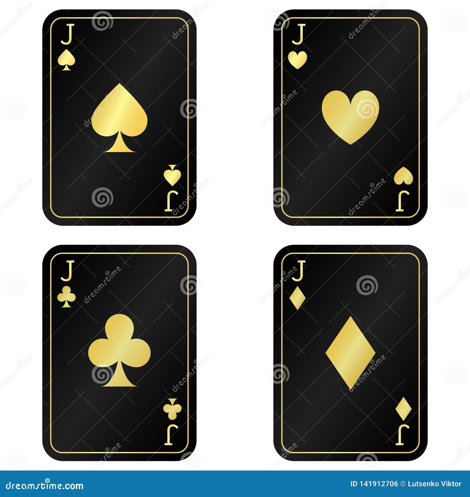Δροσίστε τέσσερις κάρτες γρύλων Ο Μαύρος με τις χρυσές κάρτες