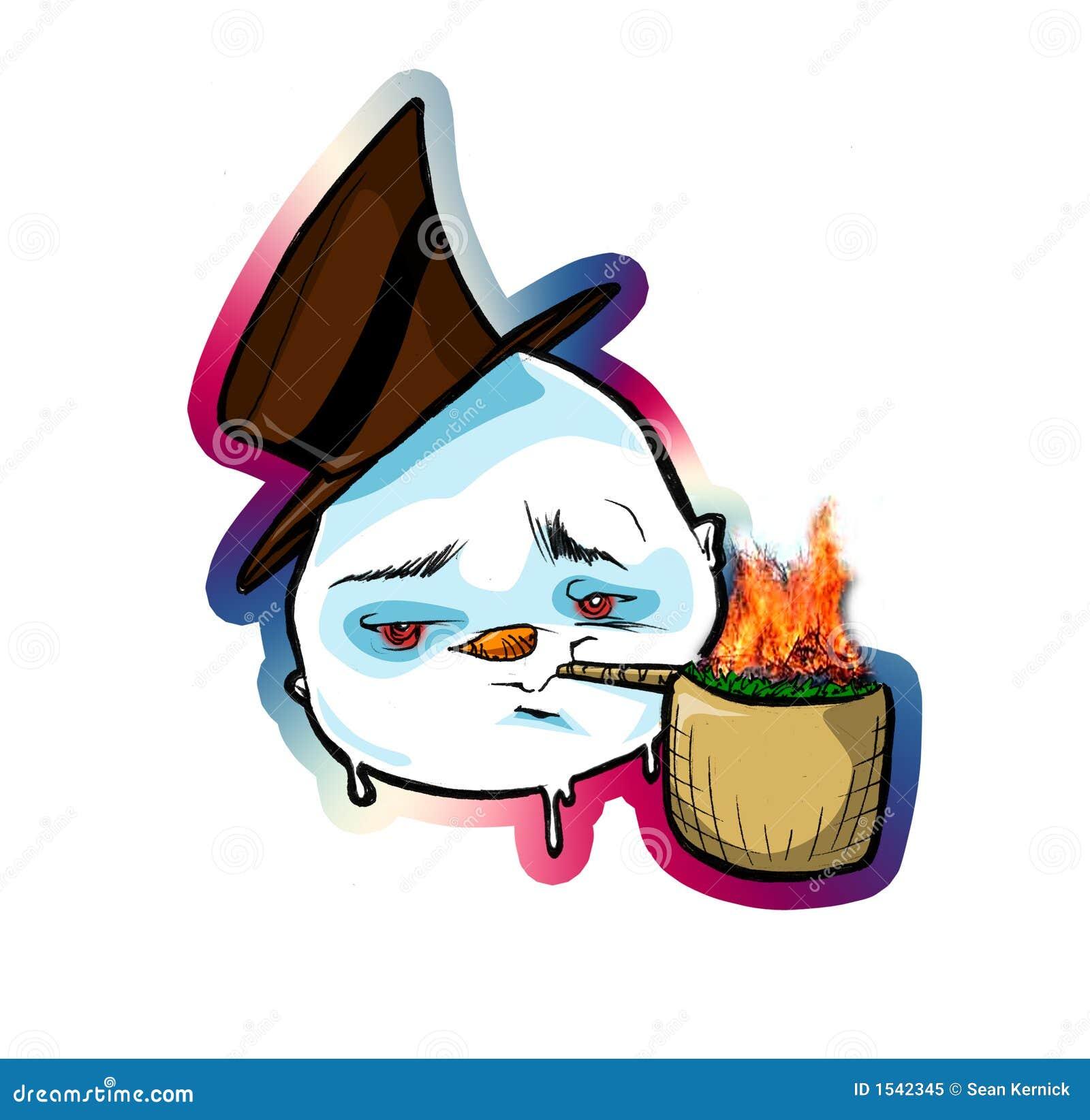 Download δροσερός χιονάνθρωπος απεικόνιση αποθεμάτων. εικονογραφία από καπέλο - 1542345