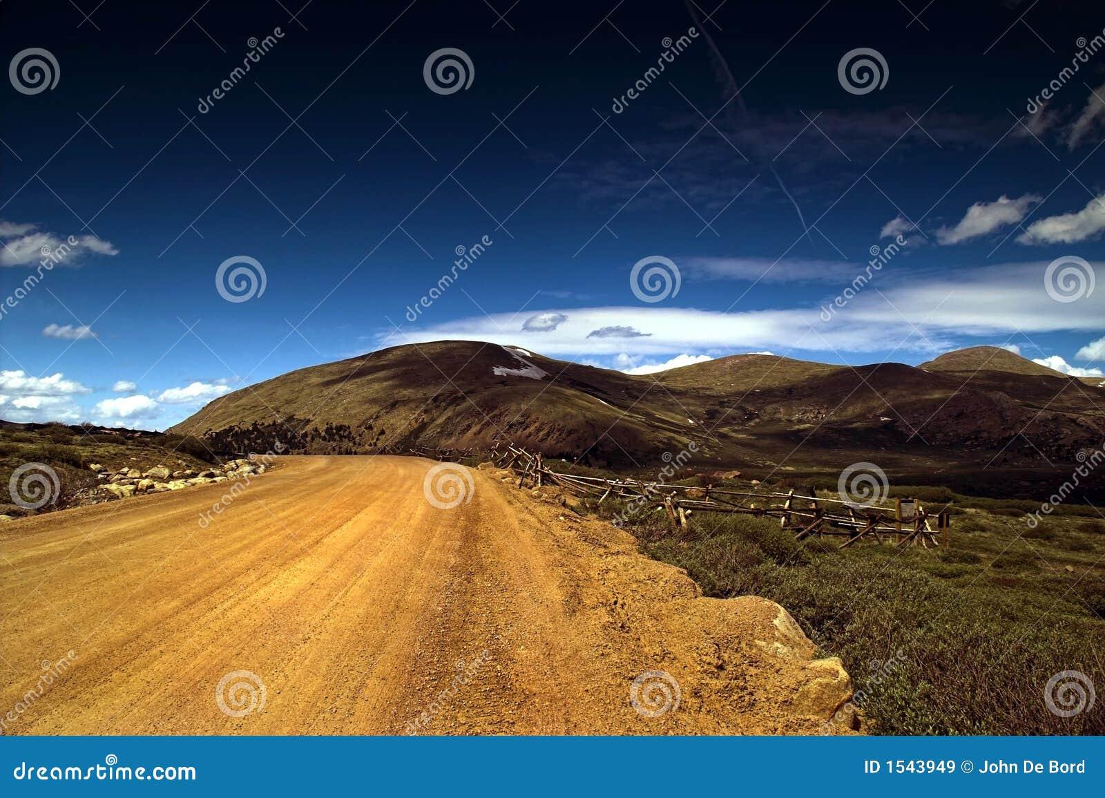 δρόμος βουνών ρύπου χωρών τ&omi