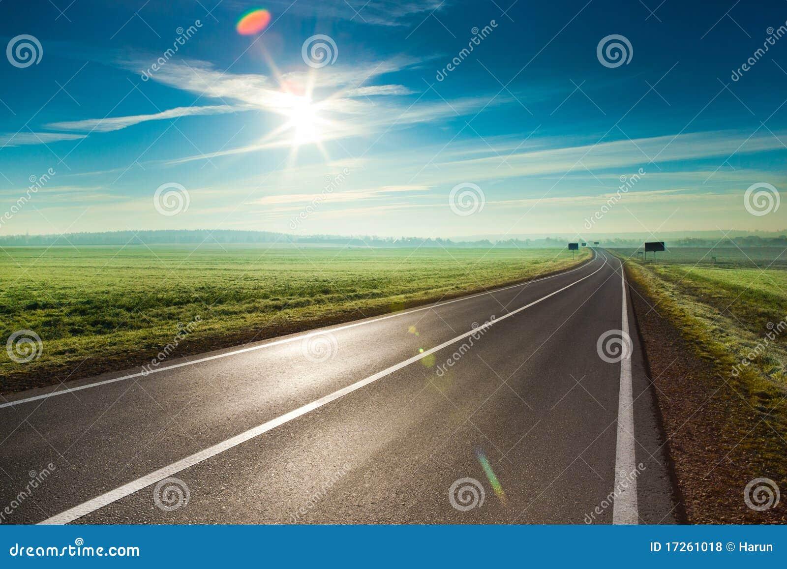 δρόμος ηλιόλουστος