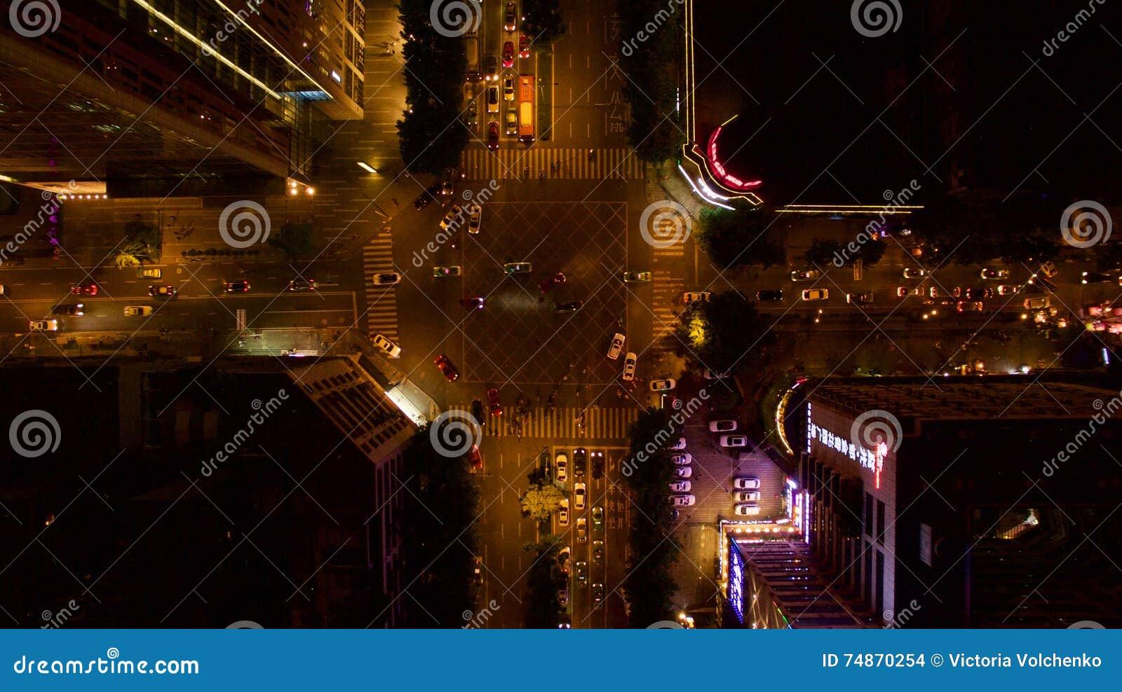 Δρόμος νύχτας στην Κίνα