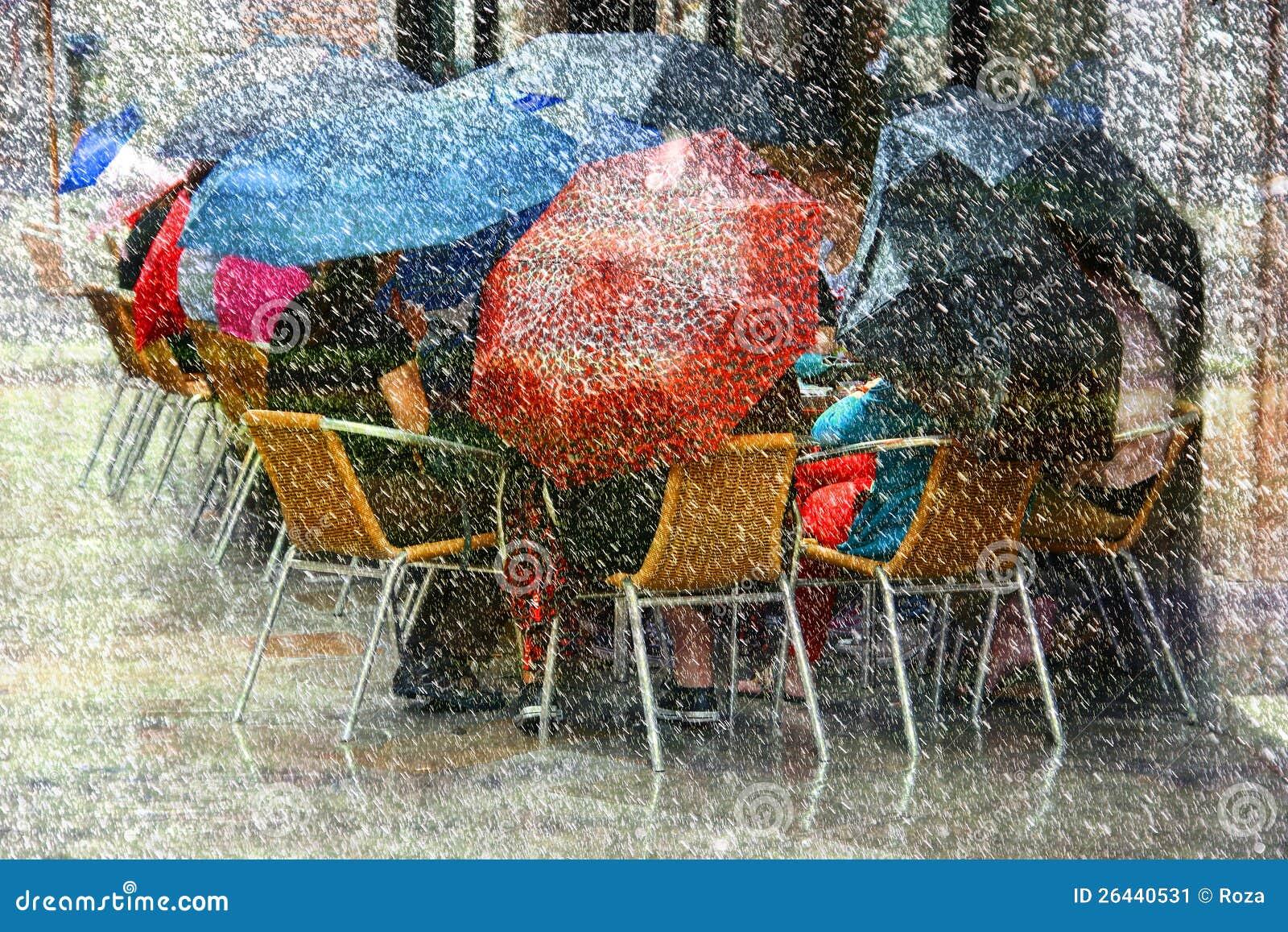 Δυνατή βροχή και χιόνι