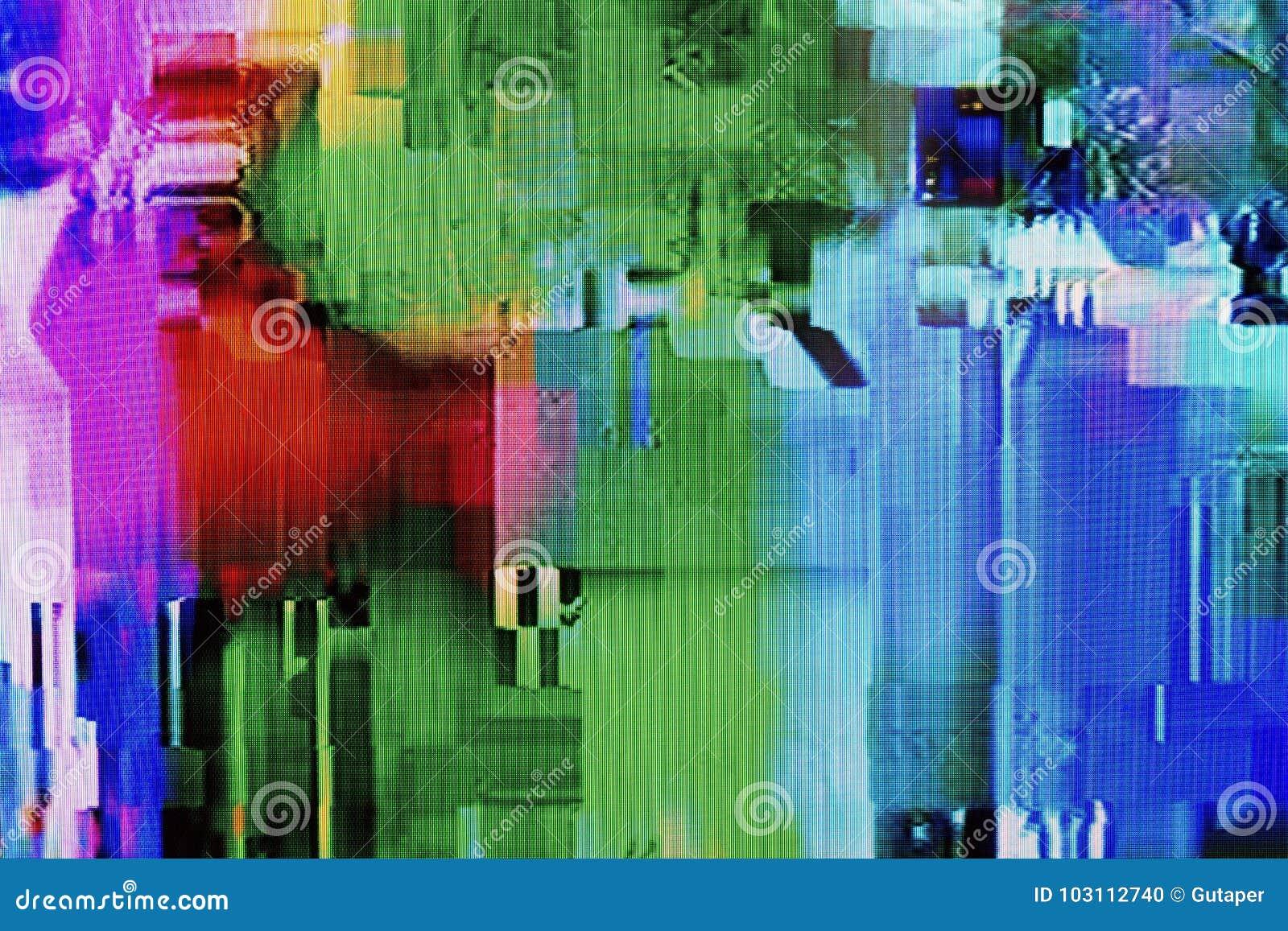 Δυσλειτουργίες, ψηφιακές παρέμβαση και διαστρέβλωση στην οθόνη TV LCD