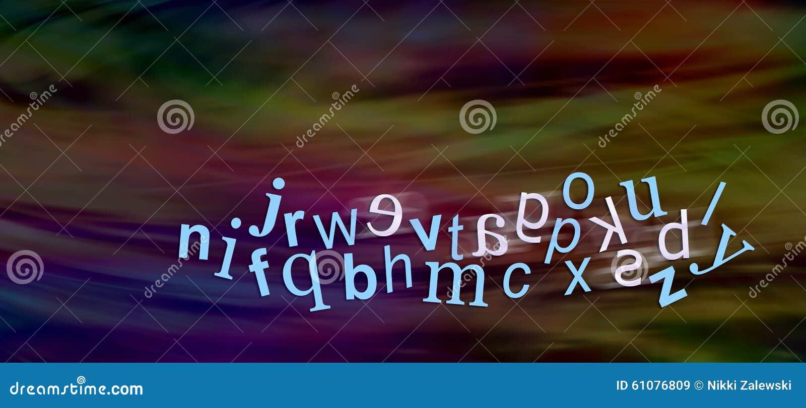 Δυσλεκτικό αλφάβητο με τις επιστολές