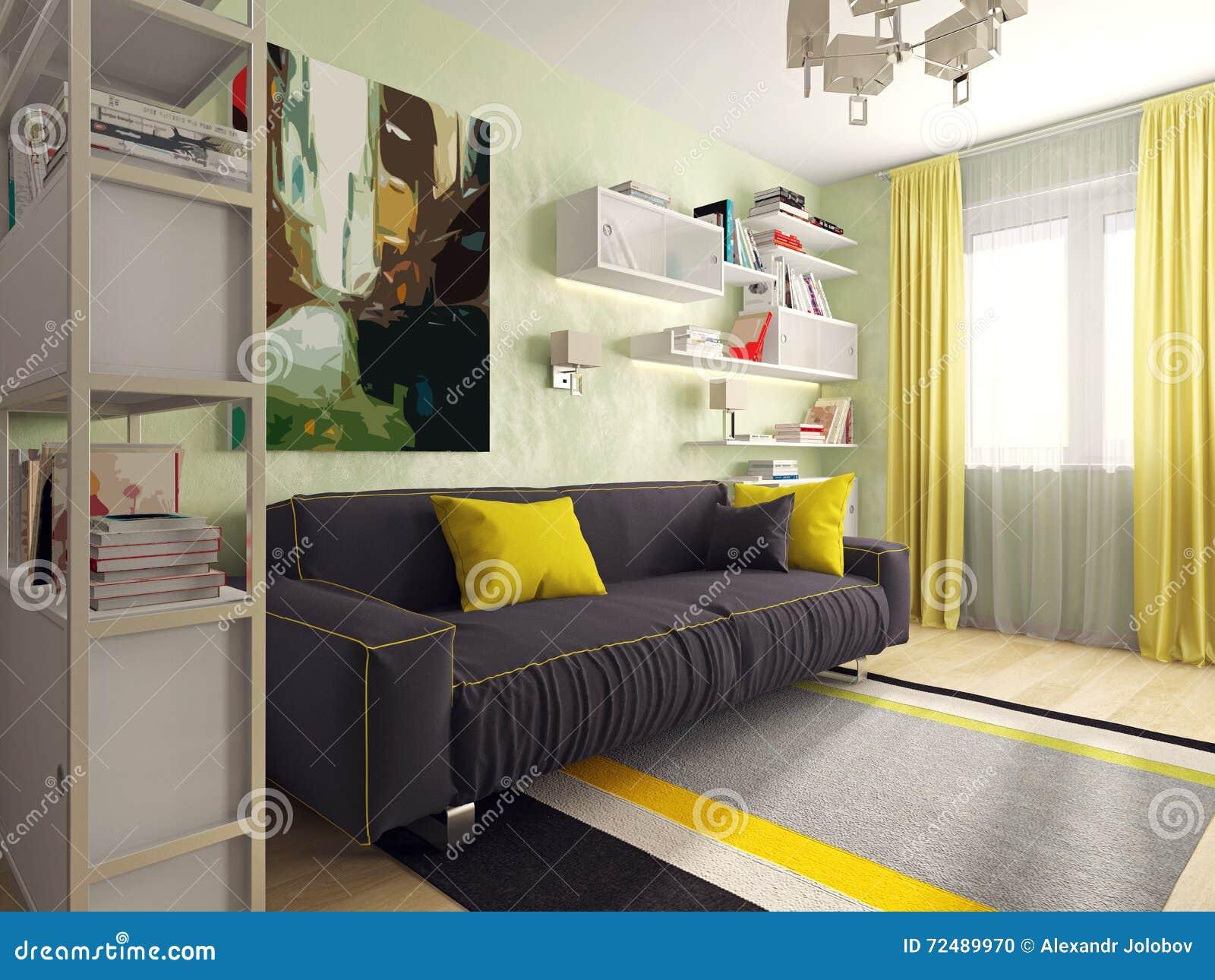 Δωμάτιο με έναν καναπέ