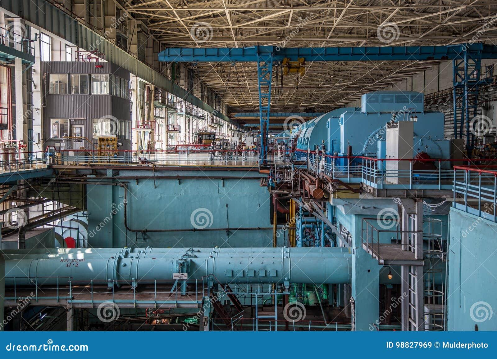 Δωμάτιο μηχανημάτων του πυρηνικού σταθμού