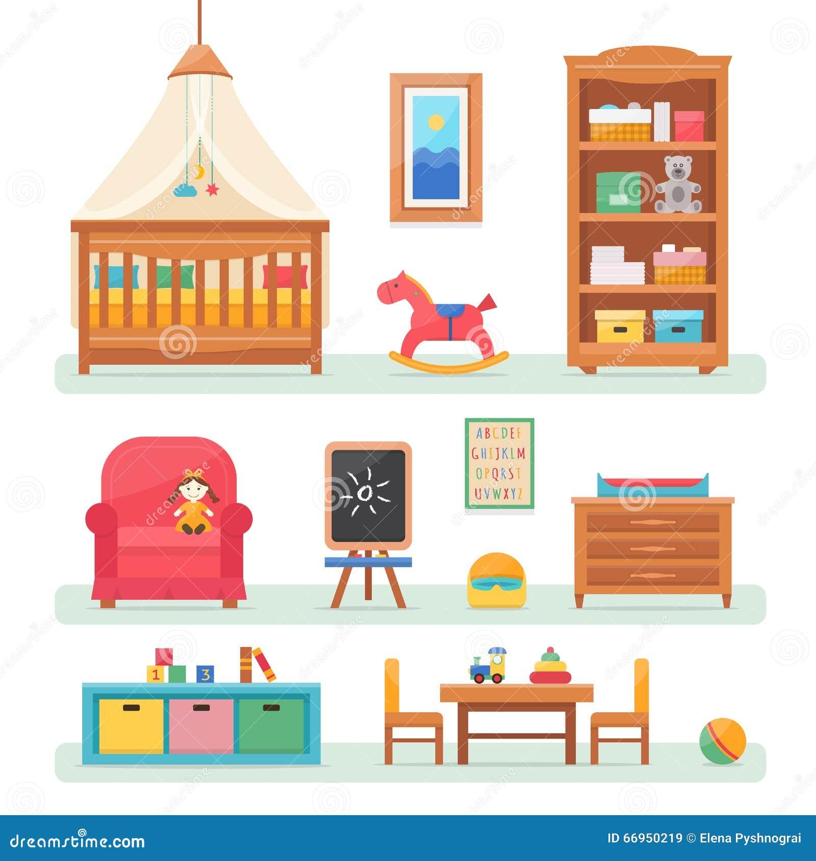 Δωμάτιο μωρών με τα έπιπλα