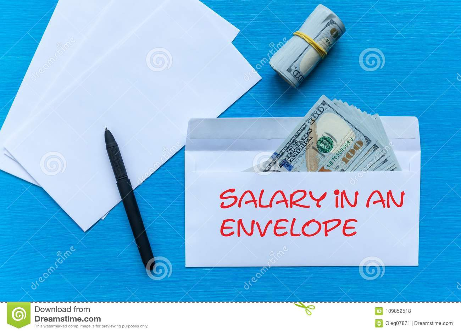 Δωροδοκία σε έναν φάκελο Μισθός σε έναν φάκελο