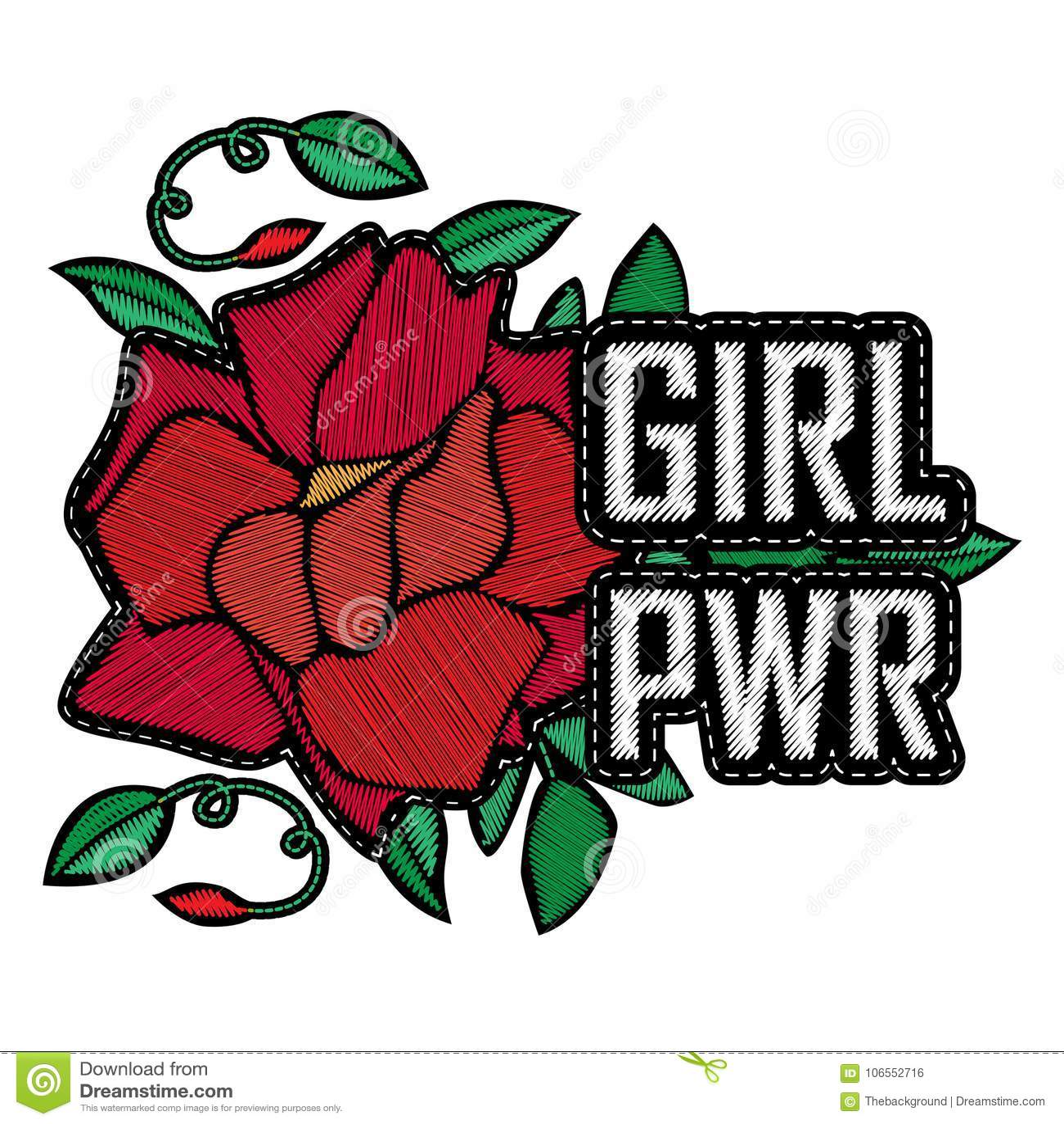 Δύναμη κοριτσιών - διακριτικό ή μπάλωμα μόδας Η κεντητική αυξήθηκε με τα φύλλα