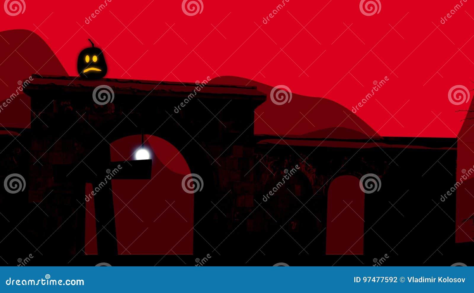 Δύο ημι κυκλικές αψίδες στο νεκροταφείο σε αποκριές