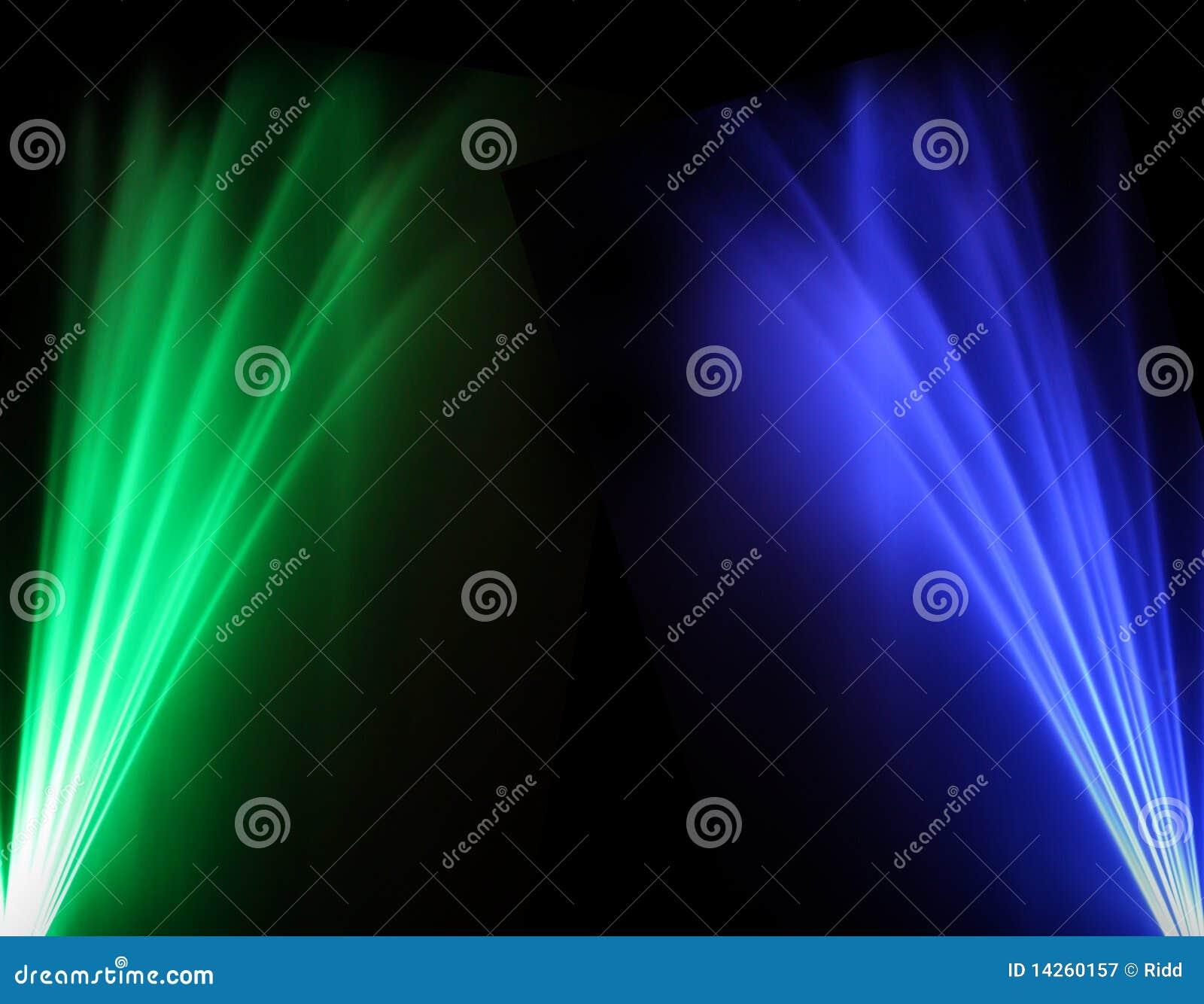 Δύο χρωματισμένες ακτίνες