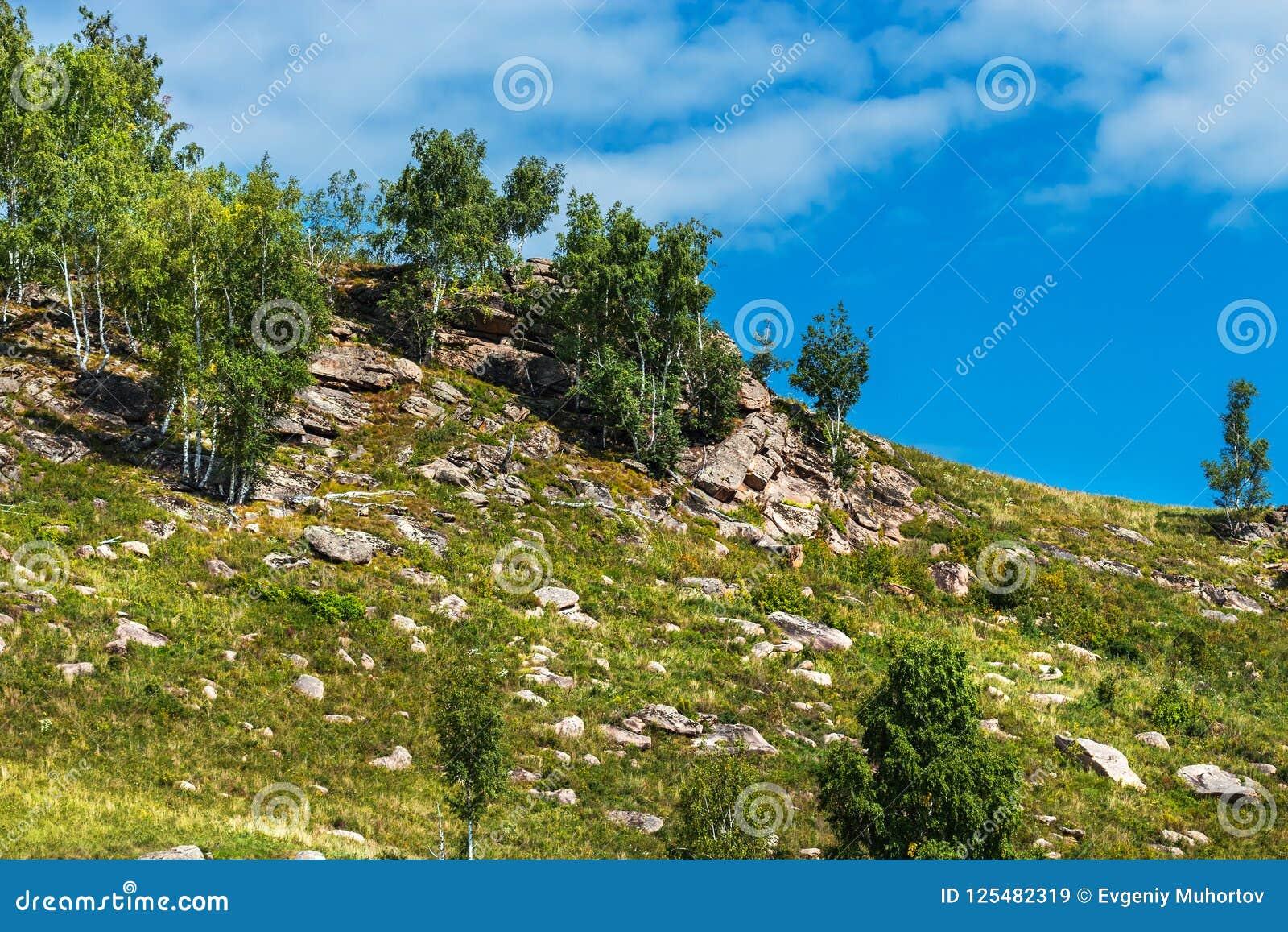 Δύσκολο Hill Altai, νότια Σιβηρία, Ρωσία